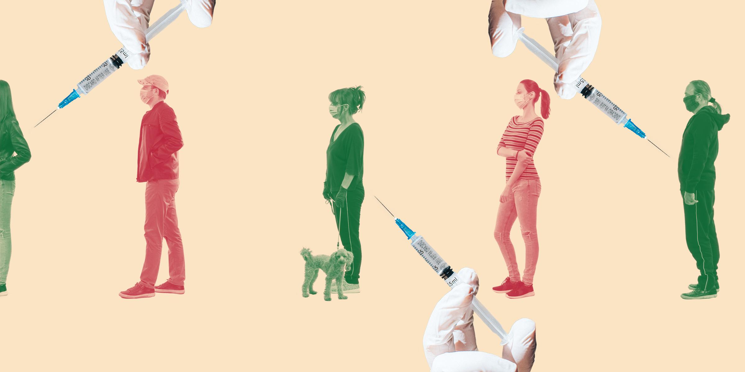 Bilderesultater for forced vaccine illustration