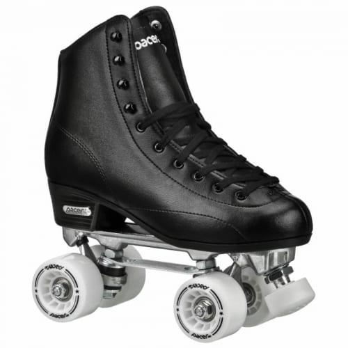 XUDREZ Roller Skates for Women Men High-top PU Leather Roller Skates Shiny Four Wheels Roller Derby Skates White Black Roller Skates for Girls Boys
