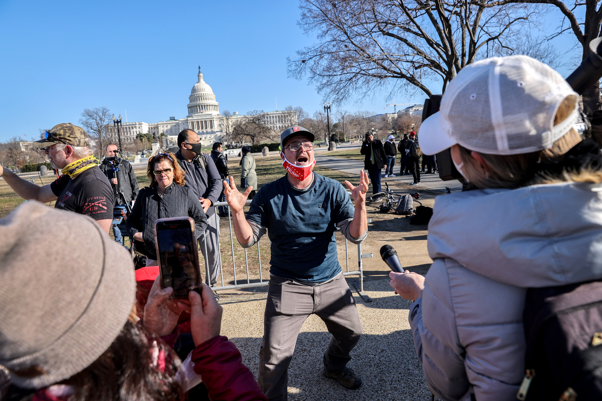 Dejected Trump supporters leave Washington, create new theories for Capitol  violence