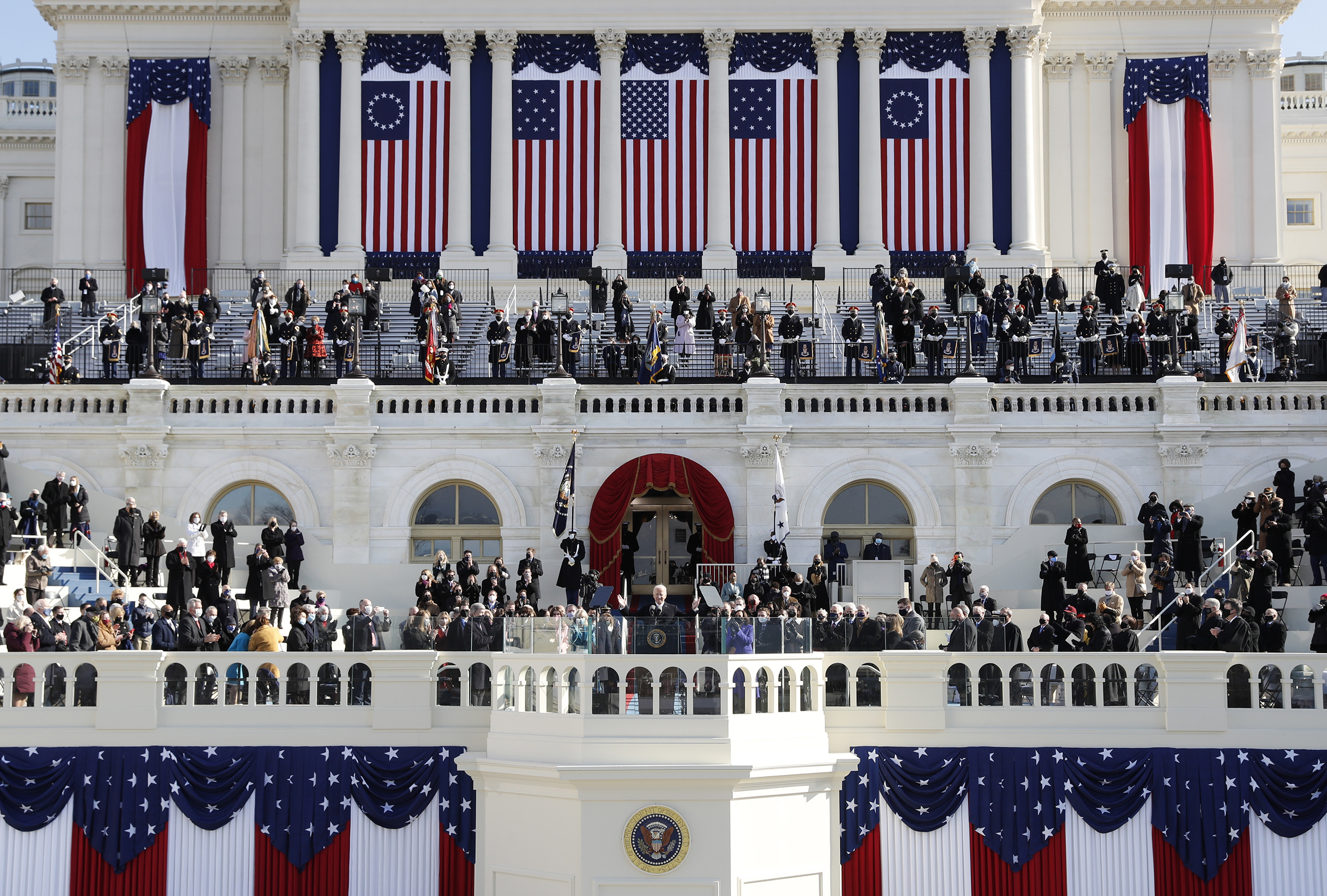 All Circumstance And Less Pomp Biden Inauguration Strikes A Somber Tone
