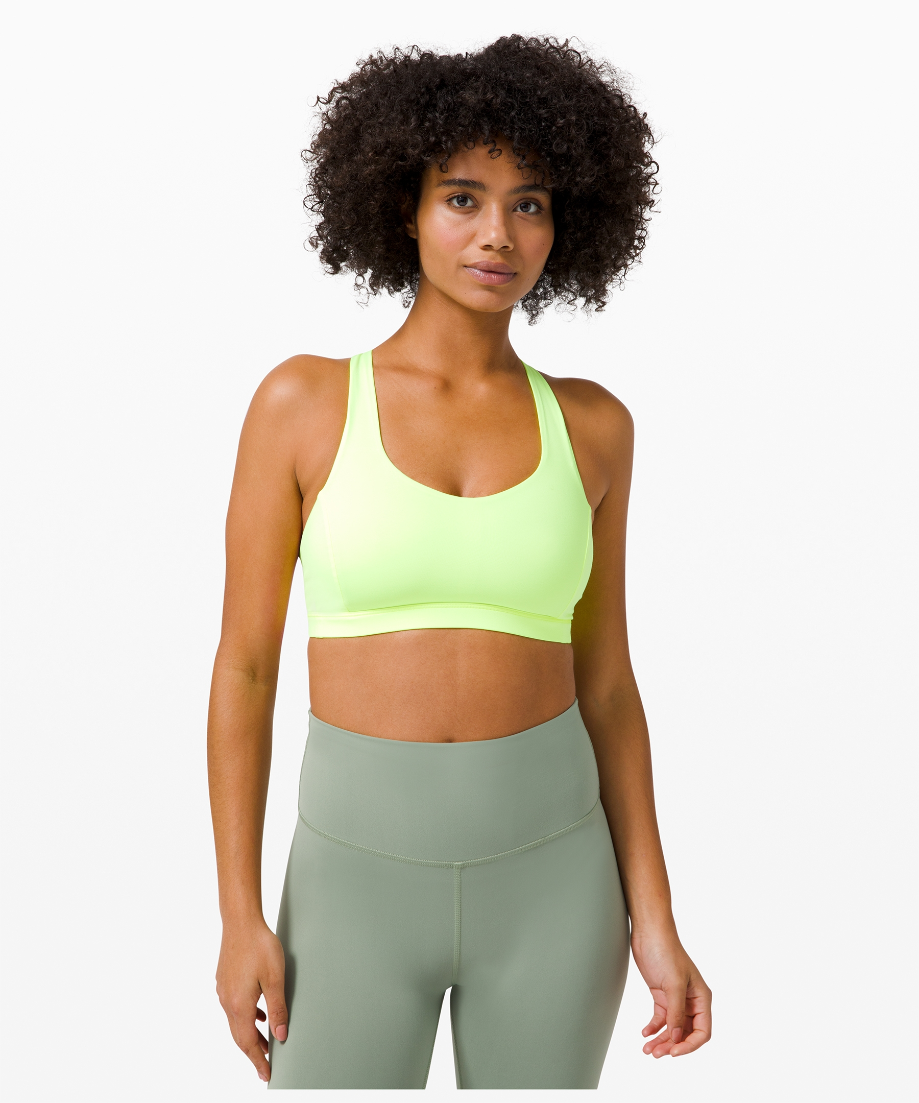 BROMEN Longline Sports Bra for Women Yoga Tank Top Padded Compression Fitness Running Workout Tops