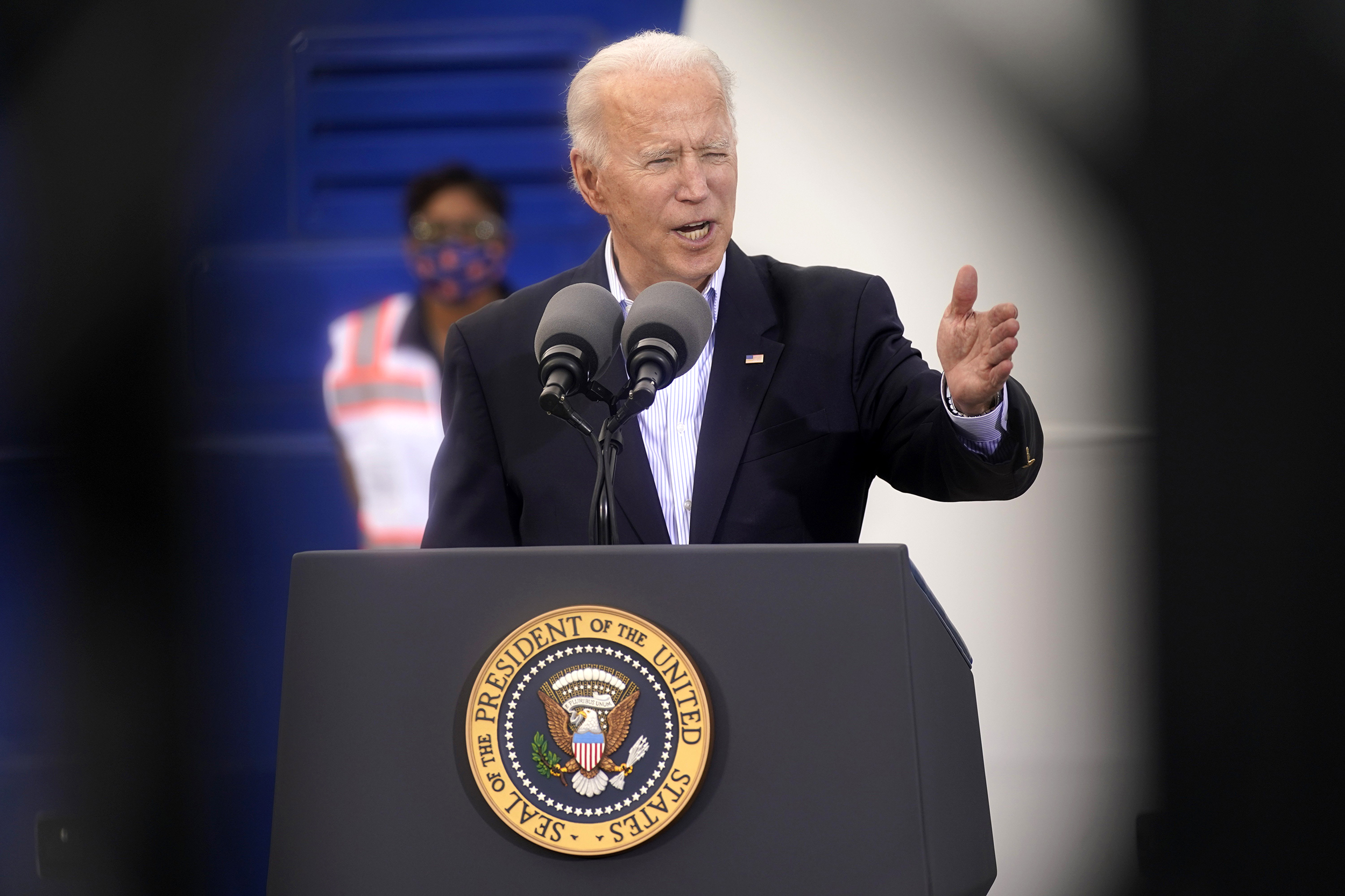 Biden says ICE will not target undocumented immigrants at Covid-19 vaccination sites