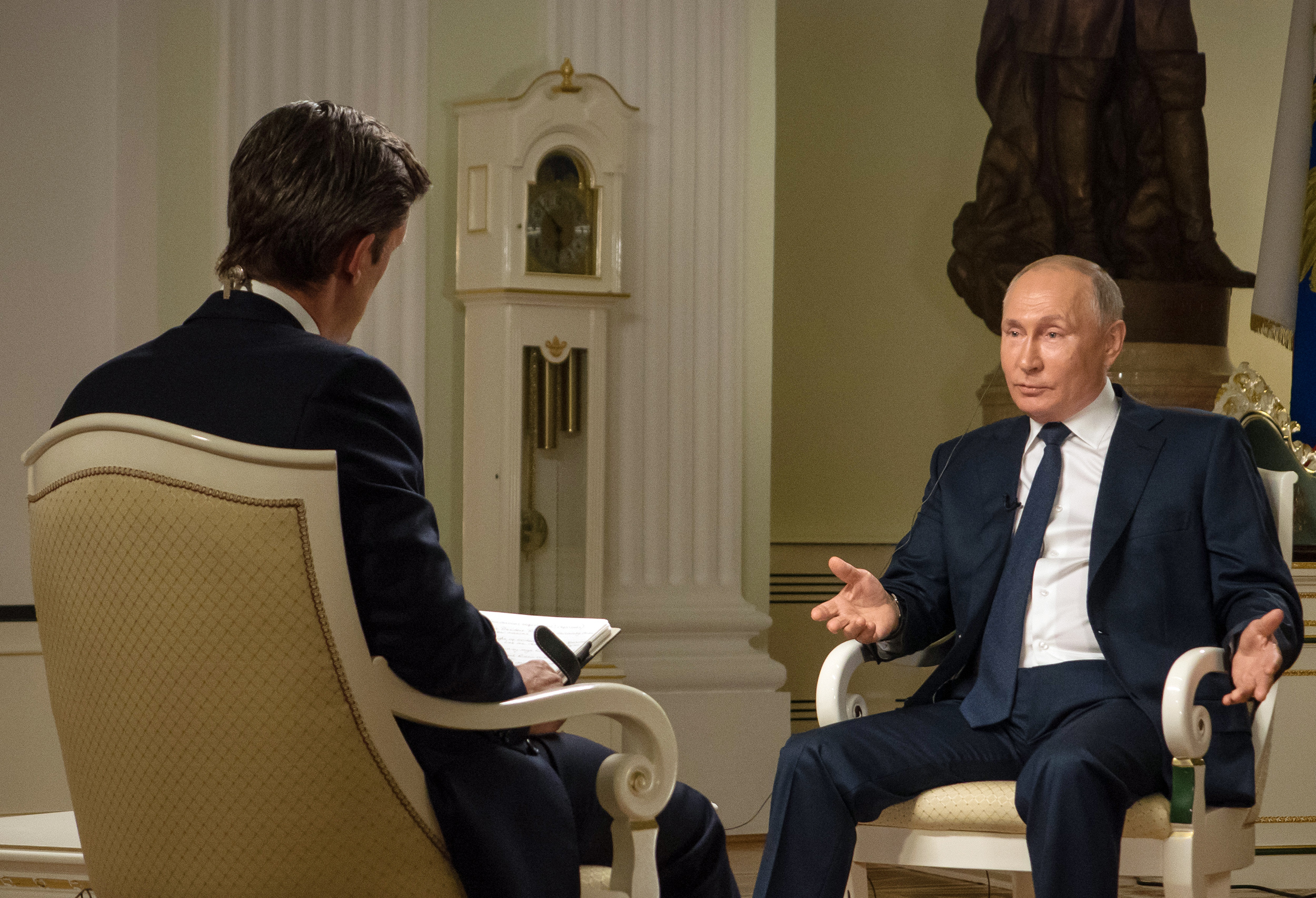 In NBC interview, Putin says he can work with Biden