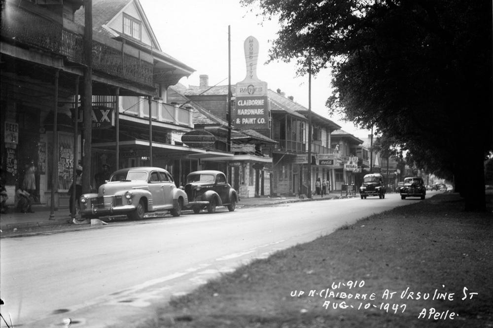 Up N. Claiborne at Ursuline St.