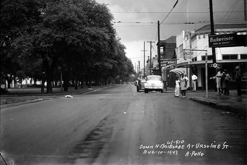 Down N. Claiborne at Ursuline St.
