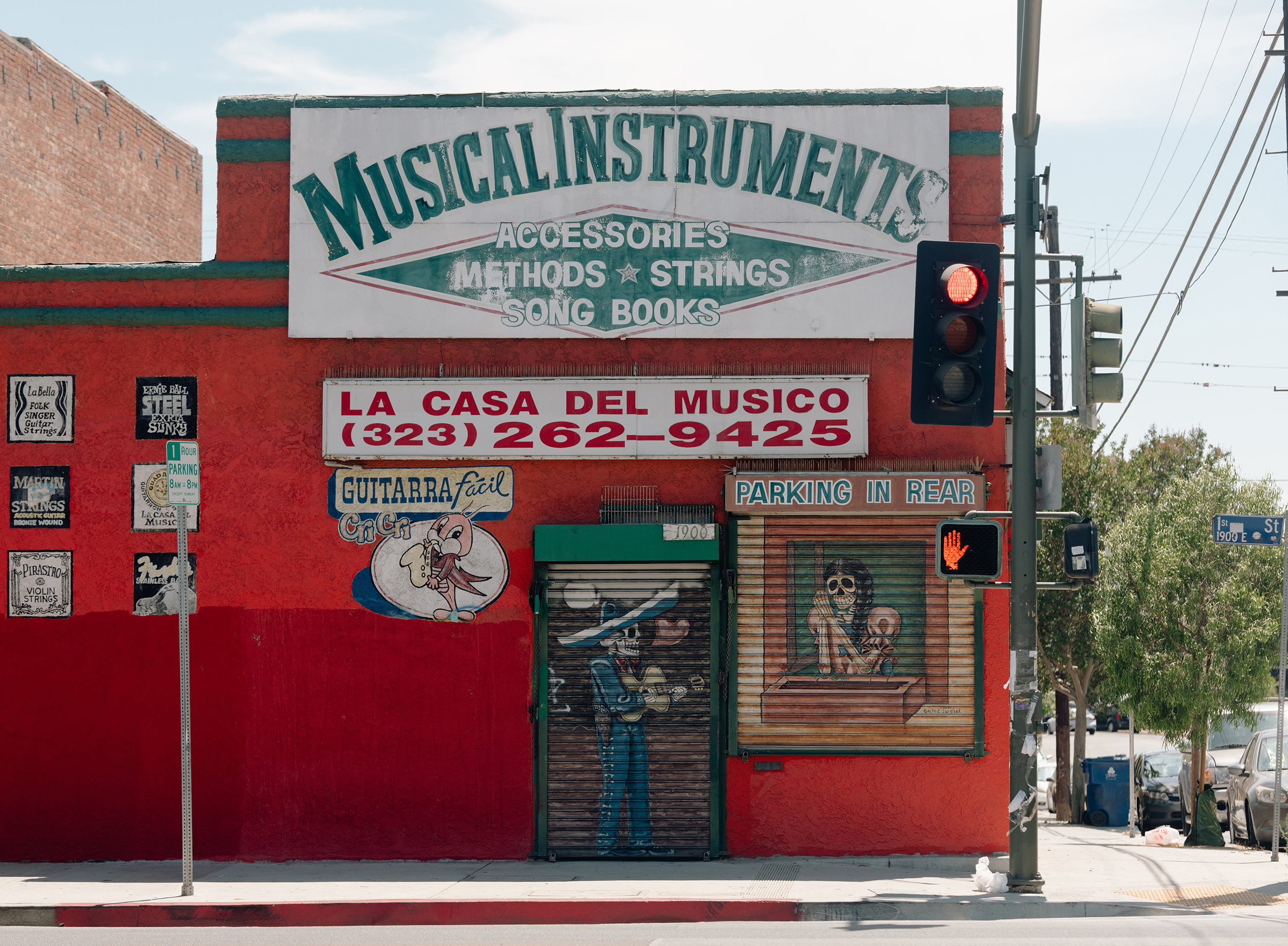 A musical instrument store in Boyle Heights.