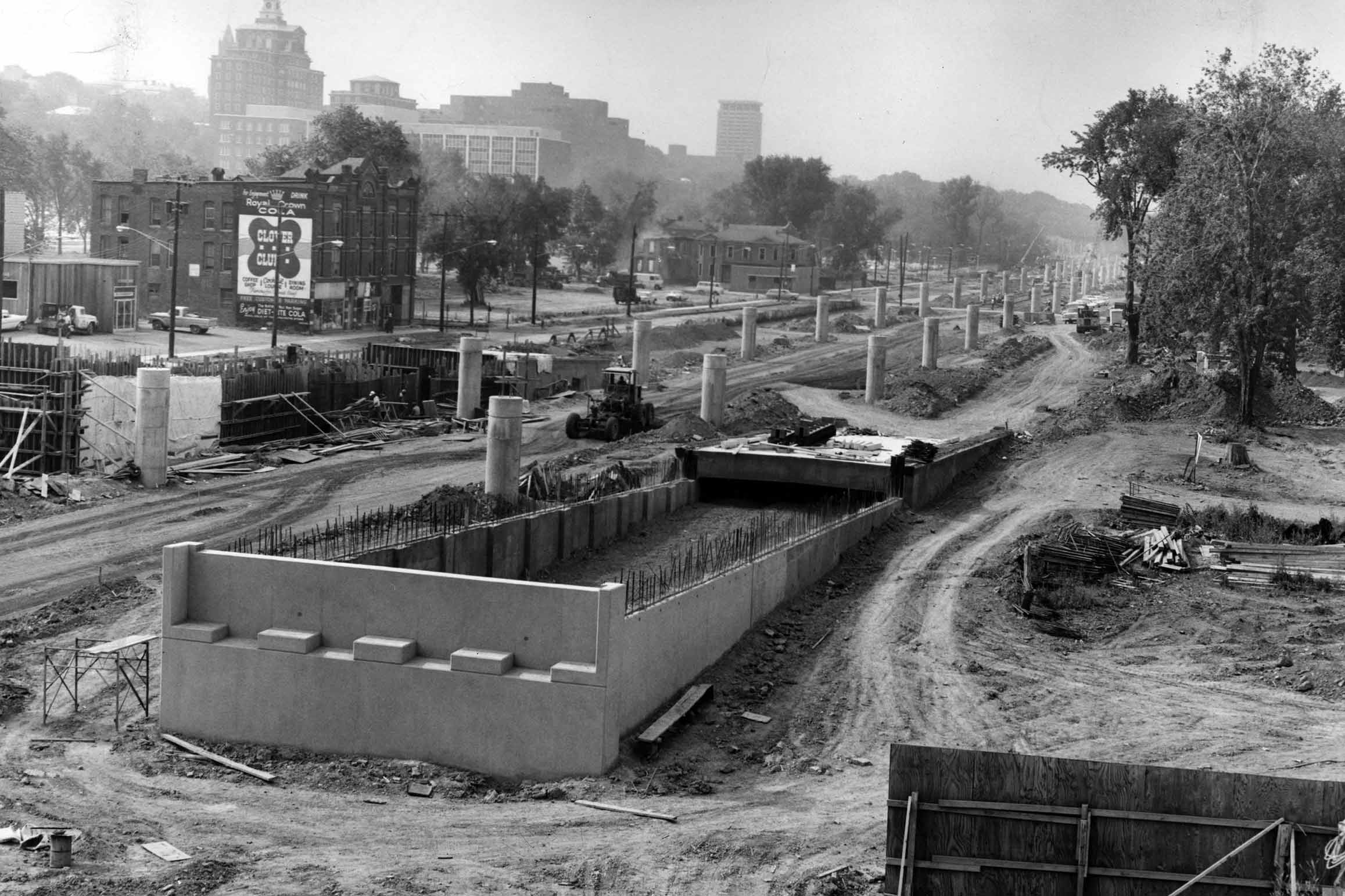 The construction of Interstate-81 through the 15th Ward in 1965.
