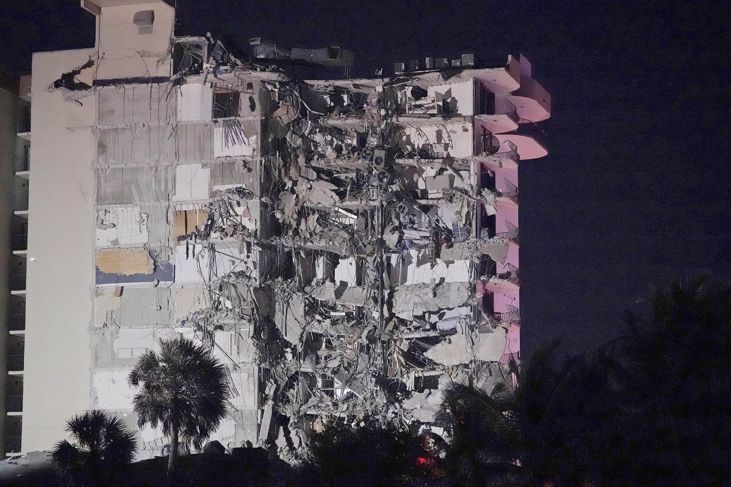 At least 1 dead after high-rise condo building partially collapses near  Miami Beach