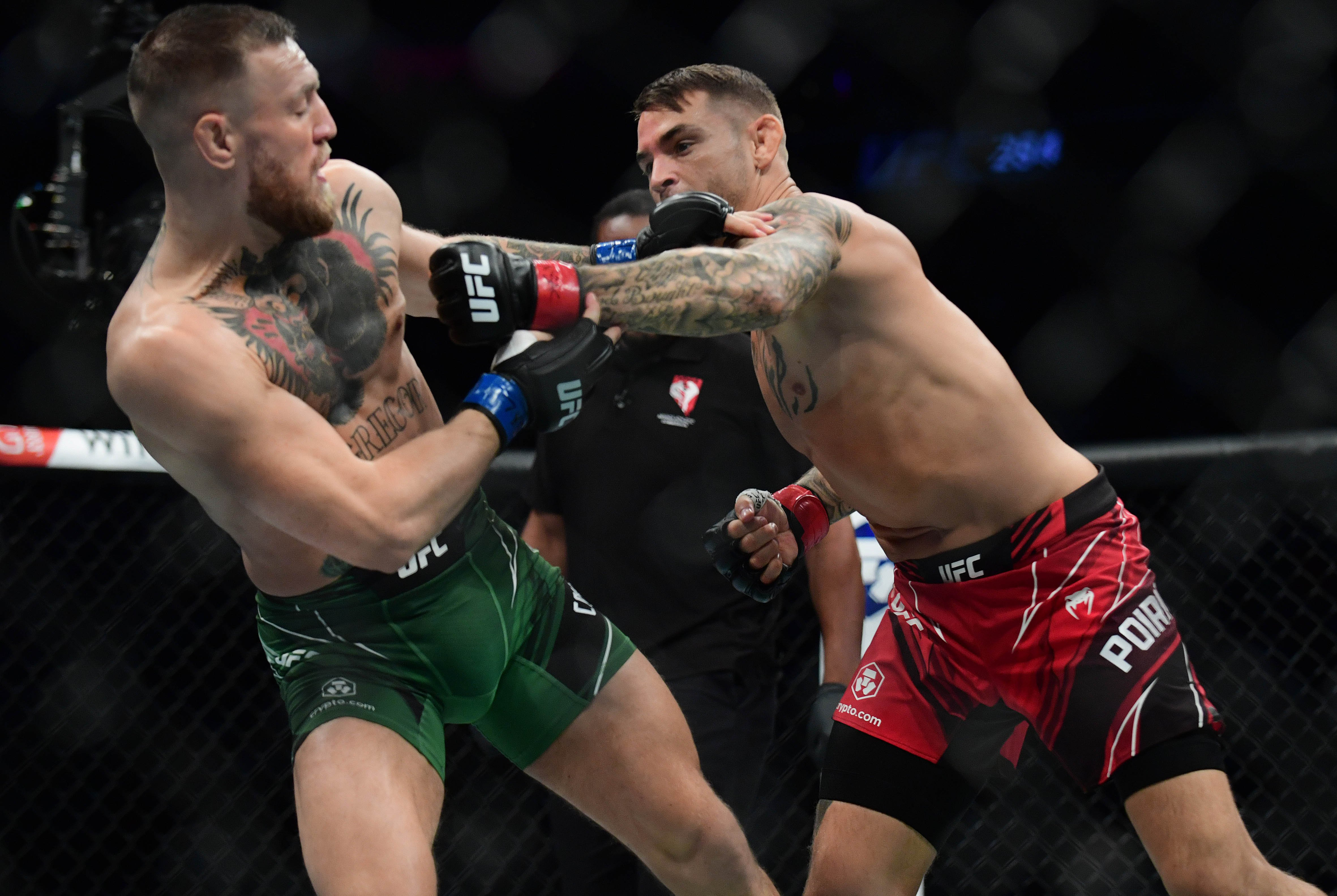 Dustin Poirier beats Conor McGregor for the second time in six months at UFC 264