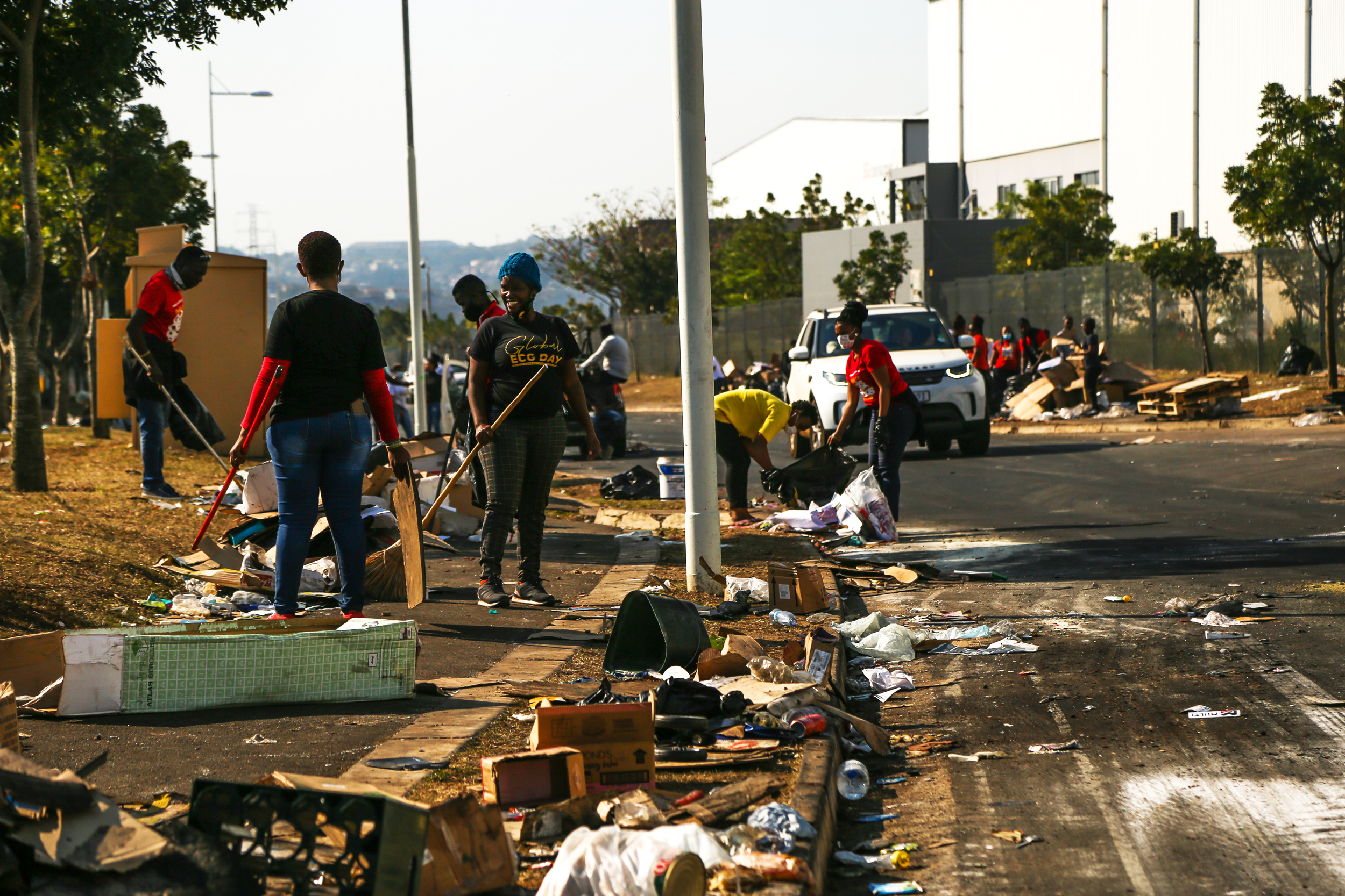 Army of volunteers remains on guard after riots and widespread looting in South Africa