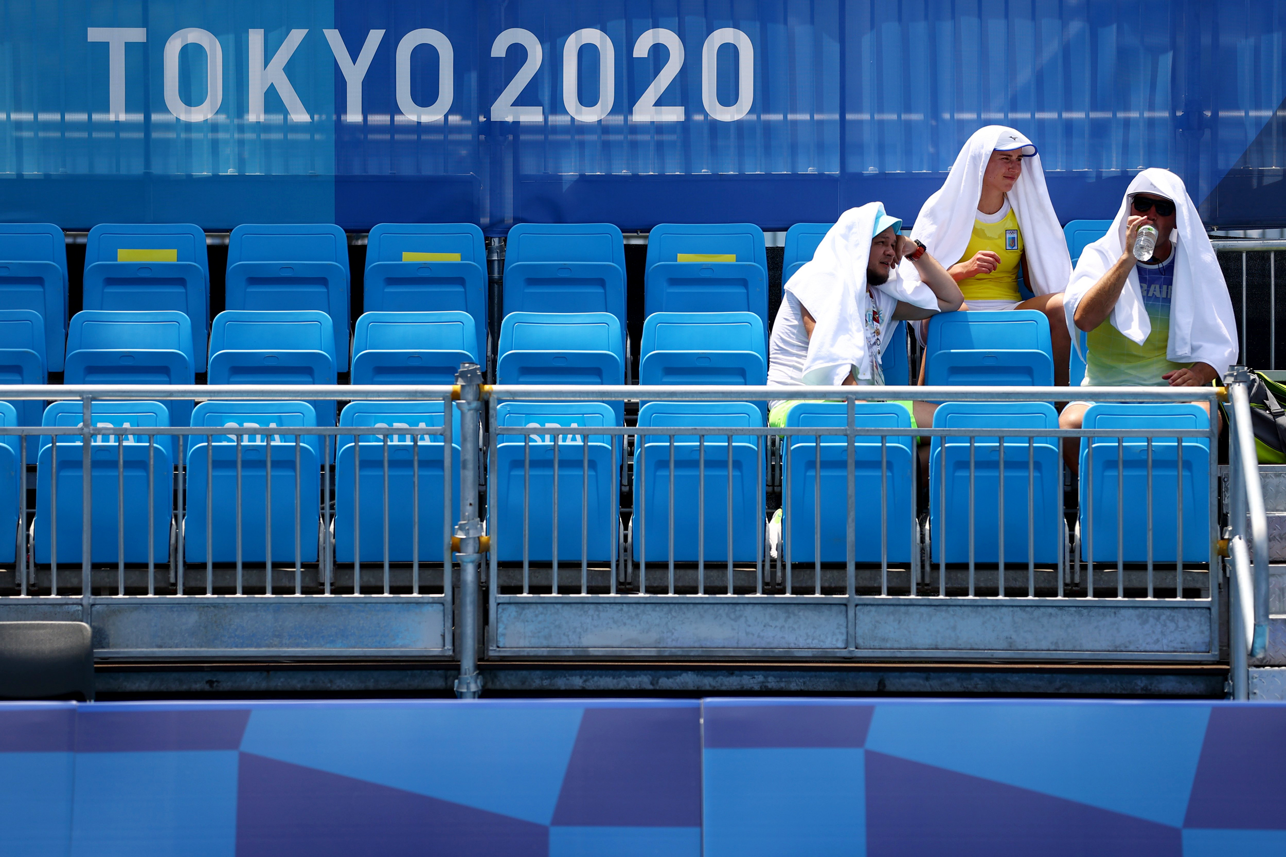 Olympic organizers are now contending with two major obstacles: Covid and a heat wave