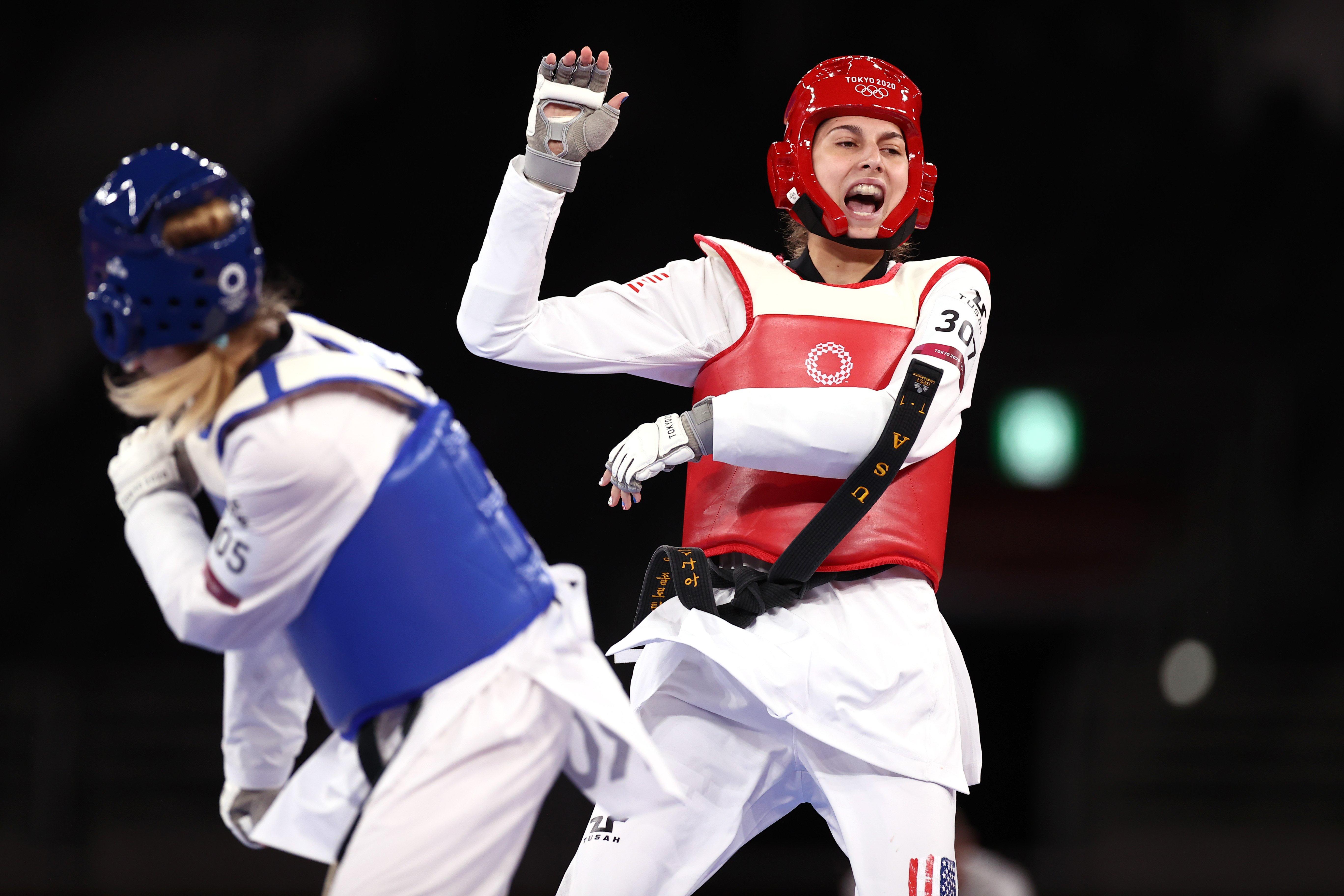 USA's Anastasija Zolotic wins historic first women's taekwondo gold medal