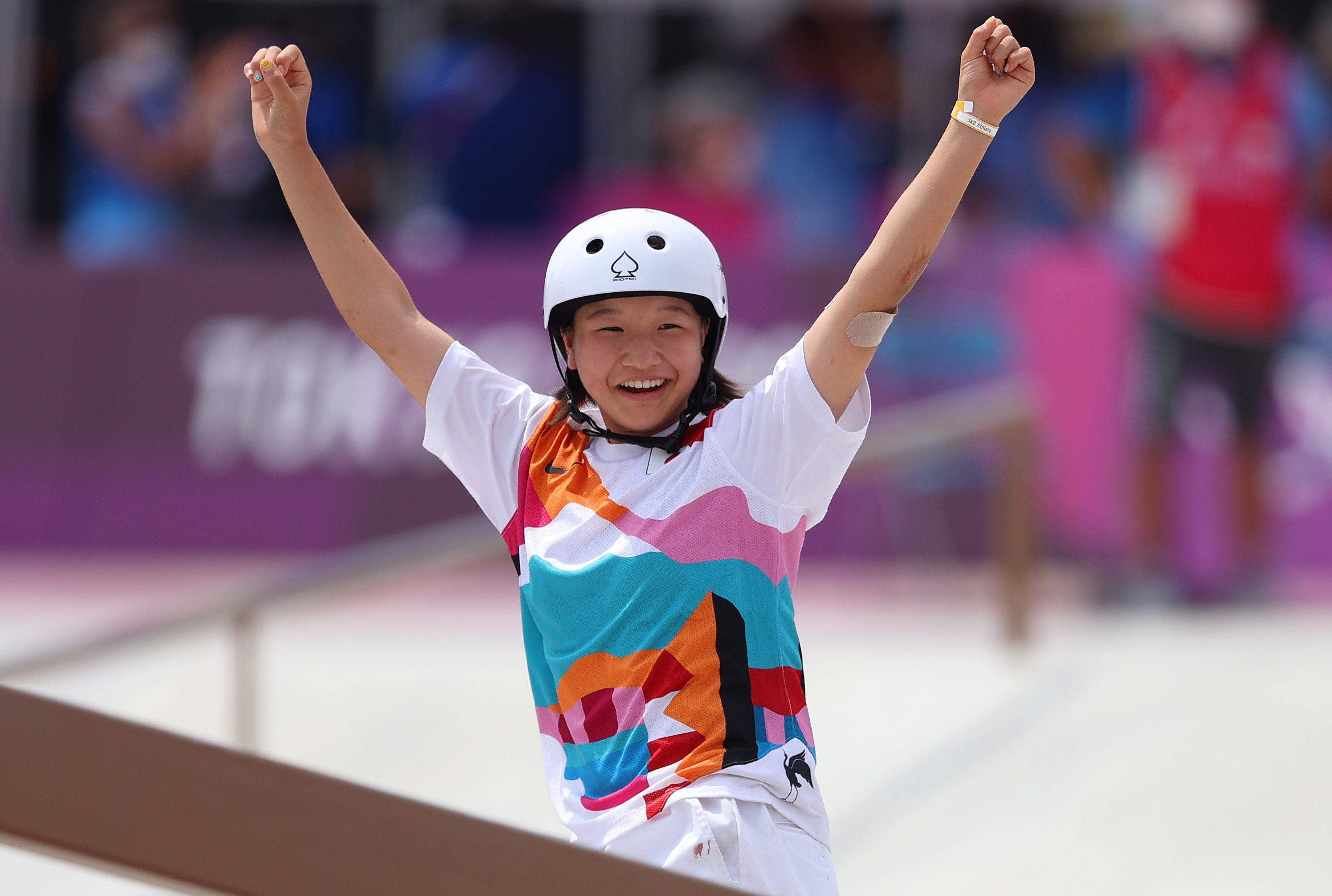 13-year-old wins skateboarding gold for Japan
