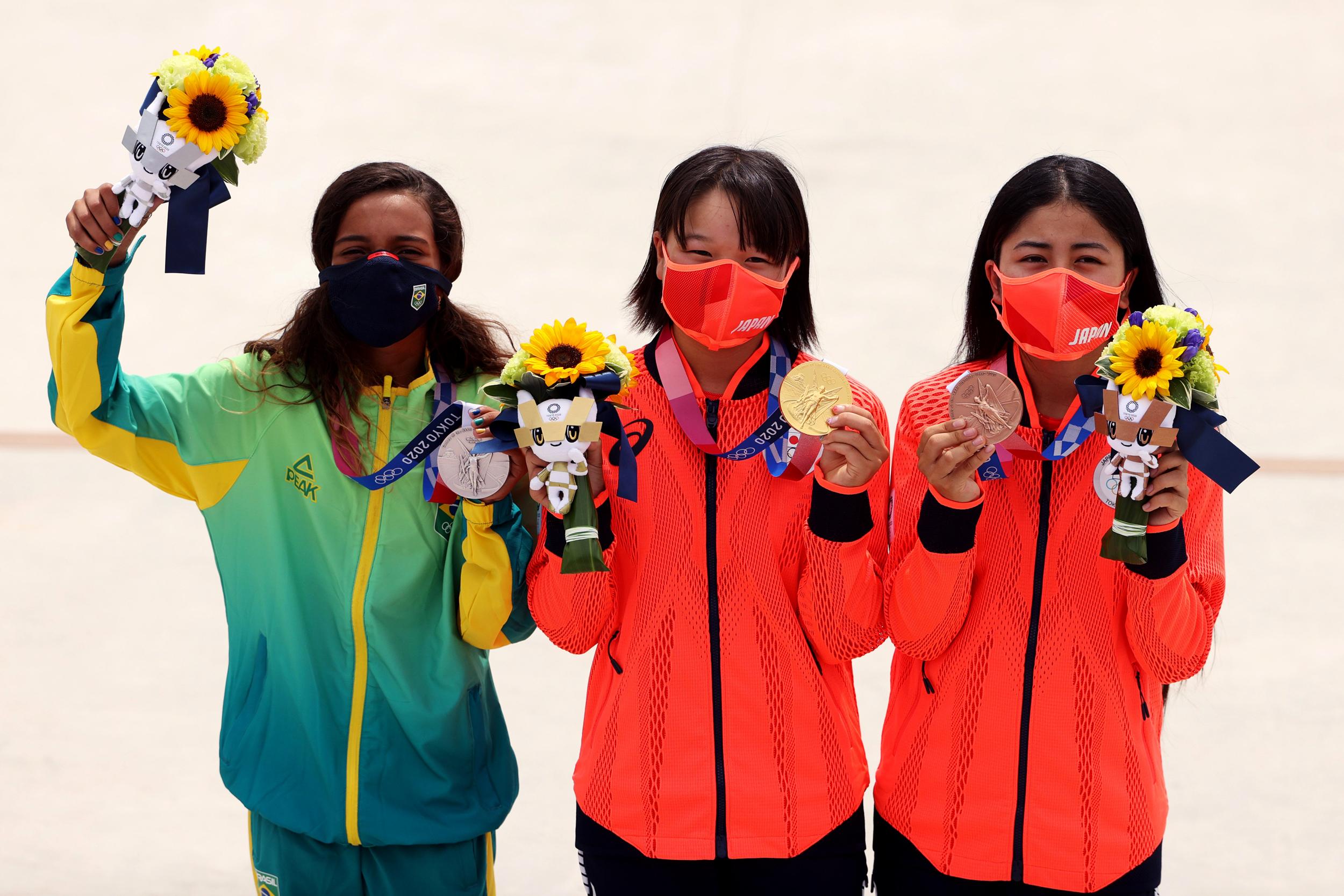 Skateboarding teens blaze trail for women at Tokyo Olympics