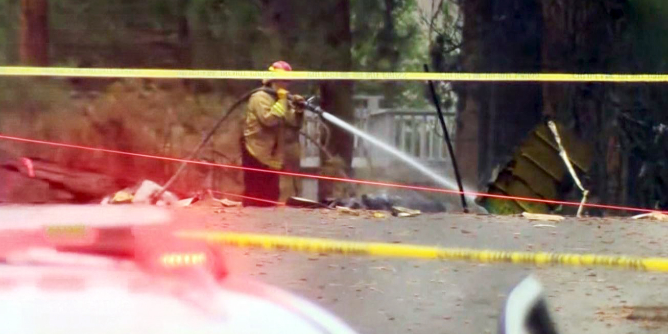 Jet crashes near Tahoe-area golf course, bursts into flames