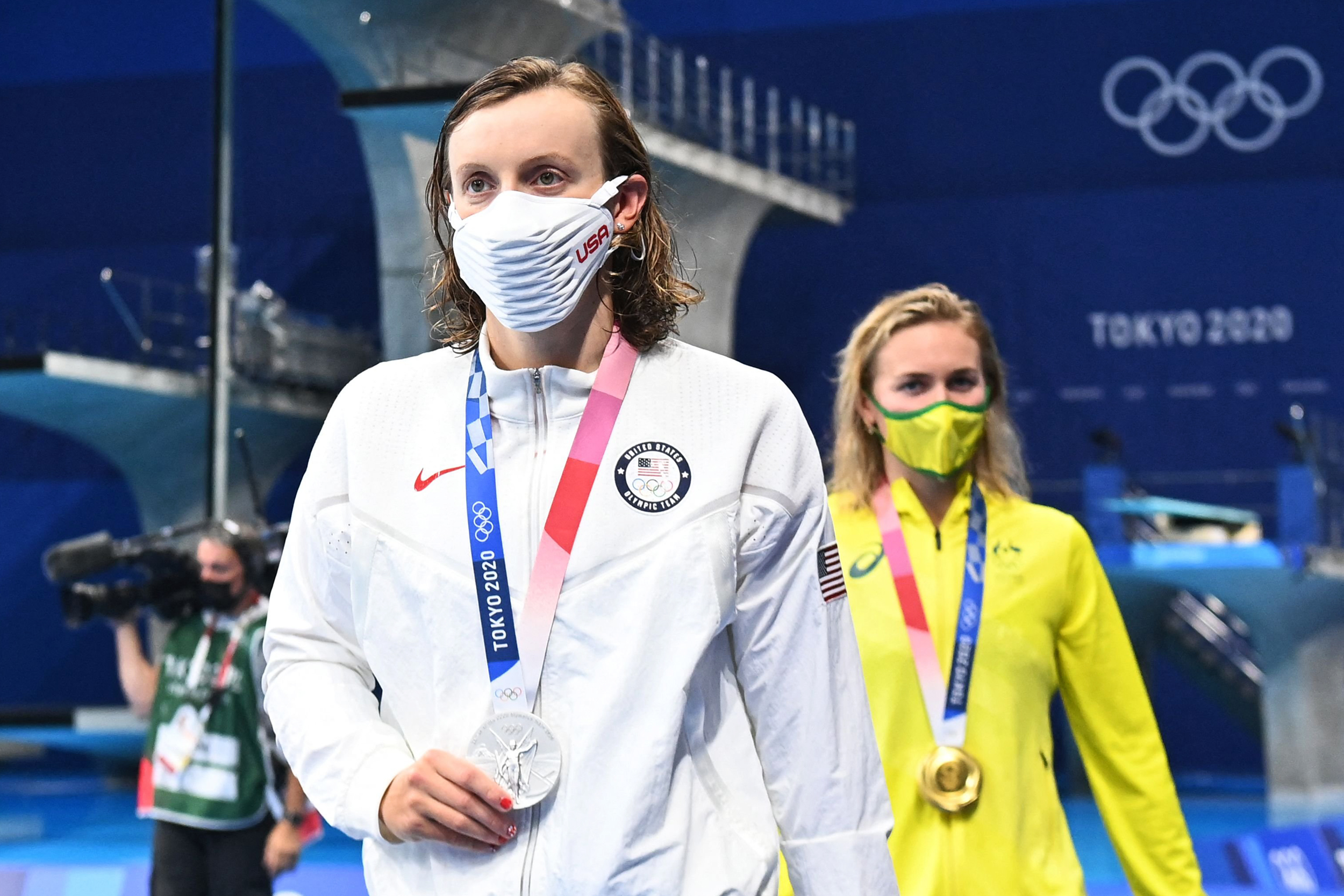 Katie Ledecky, down 2-0 to the 'Terminator,' blows field away in 1,500m