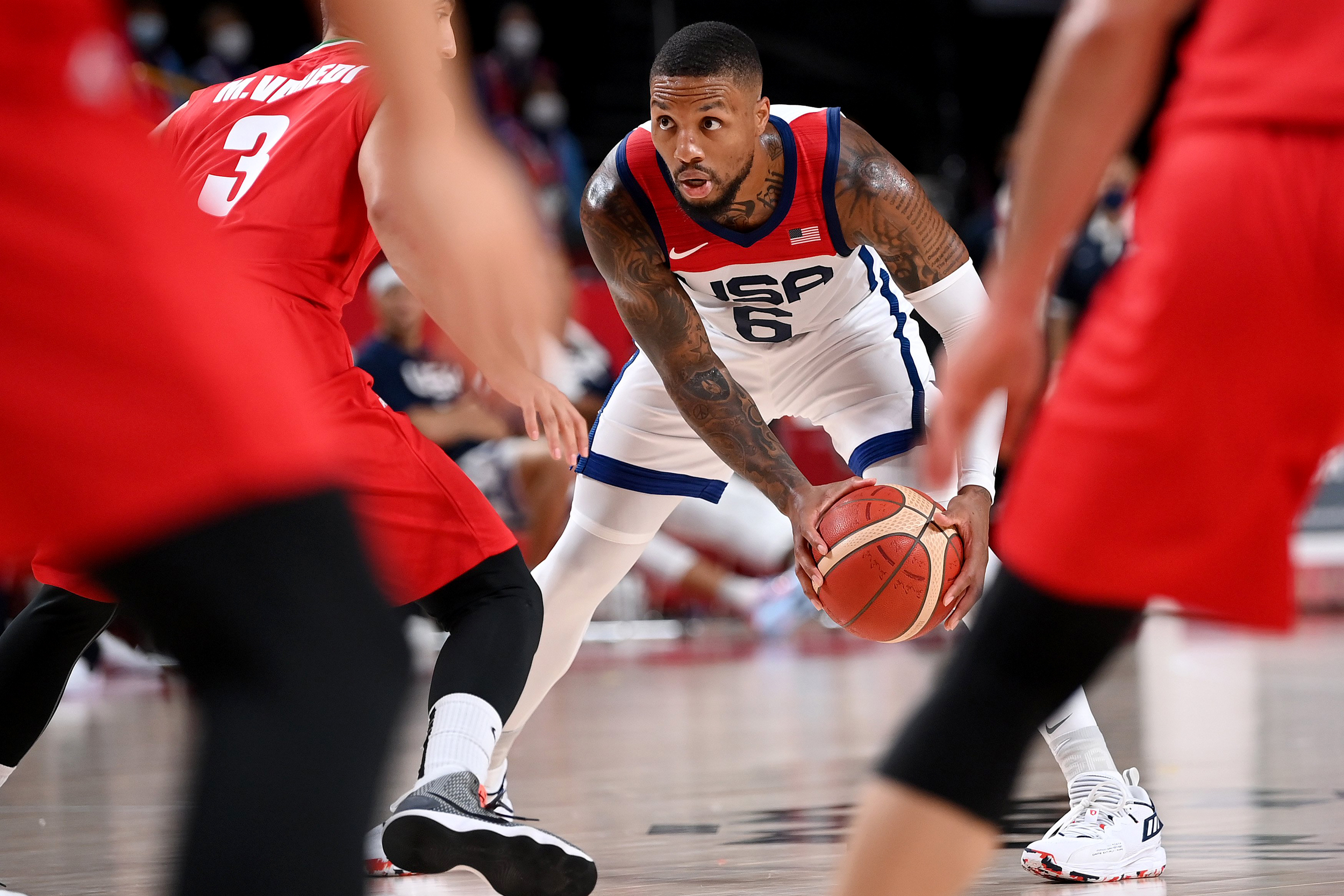 Team USA men's basketball rebounds after loss to France, routs Iran