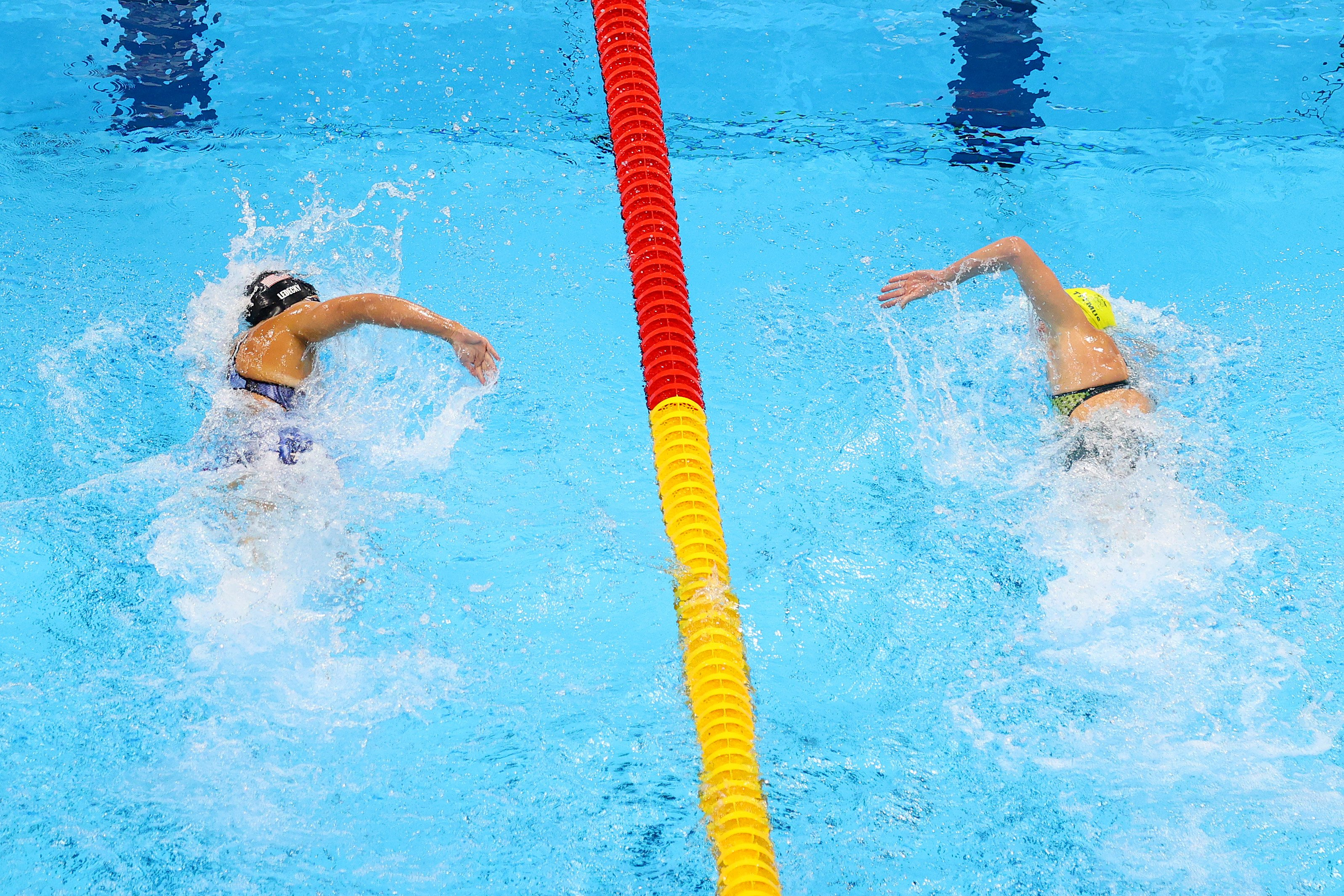 Katie Ledecky, down 2-0 to the 'Terminator,' blows field away in 1,500-meter freestyle