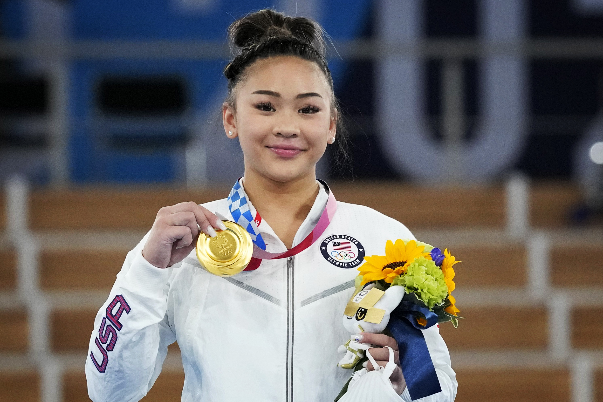 USA's Suni Lee wins gold in the women's individual all-around gymnastics final