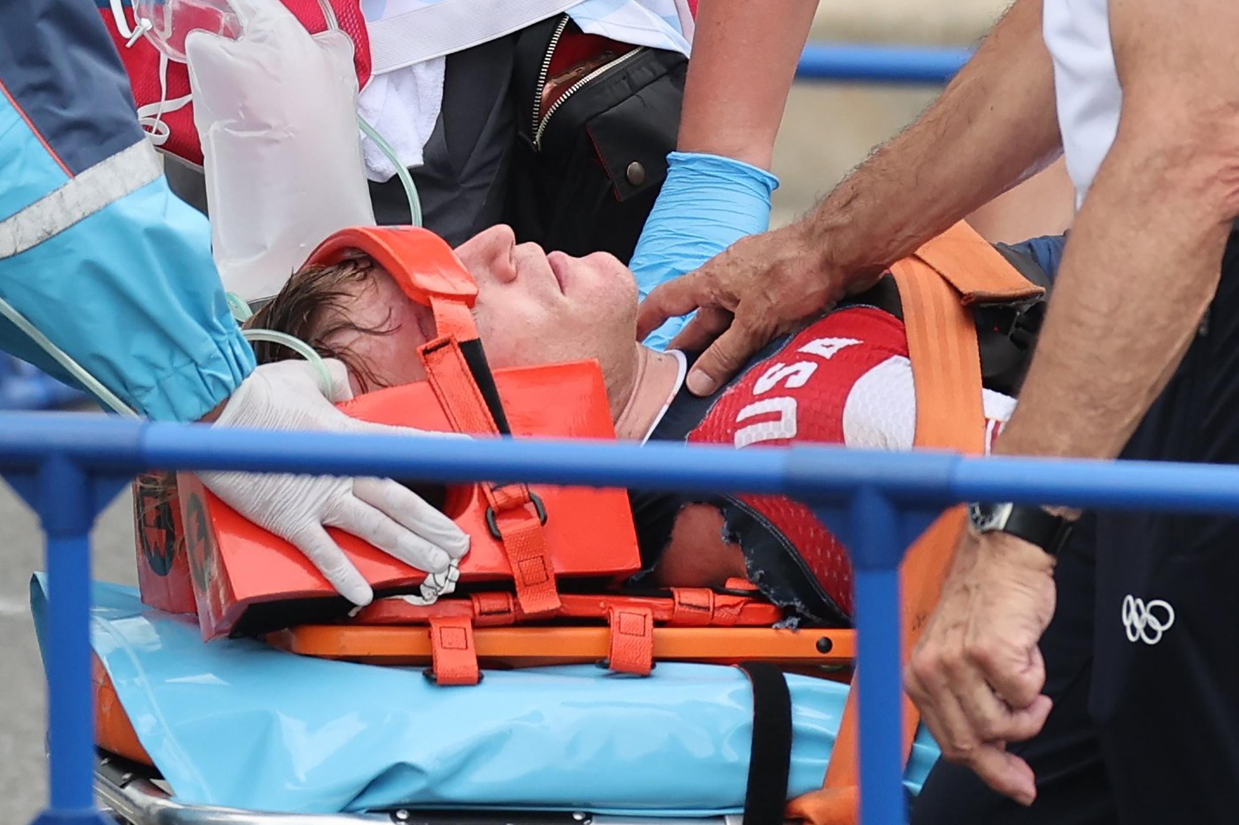 U.S. BMX racer Connor Fields carried off on stretcher after crash