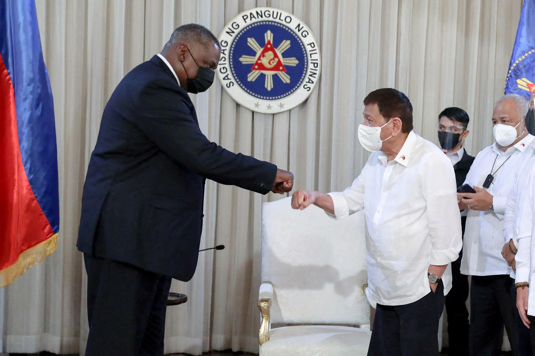 Philippine President fully restores key U.S. troop pact