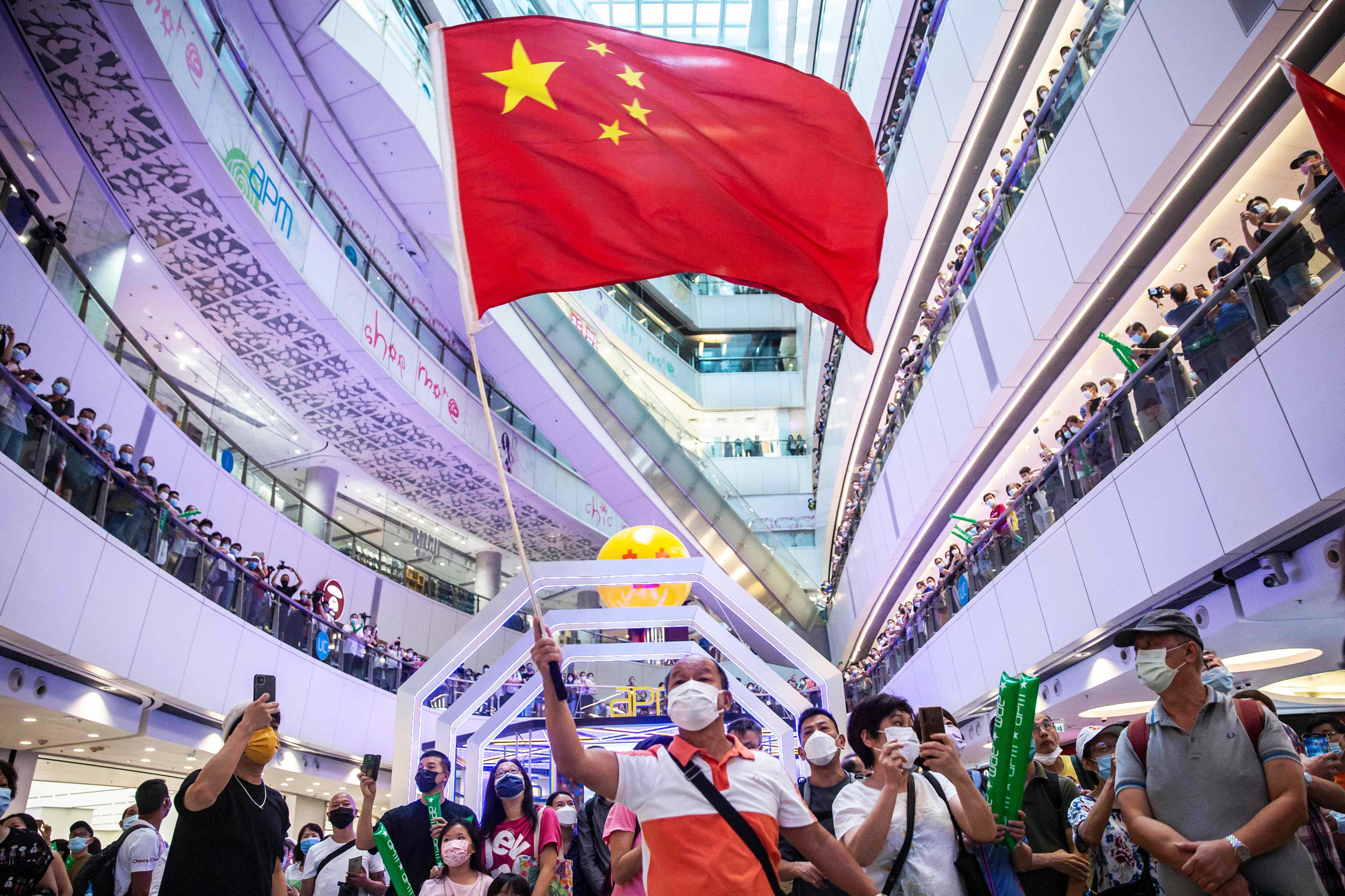 Hong Kong investigates China anthem booing during Olympics broadcast in mall