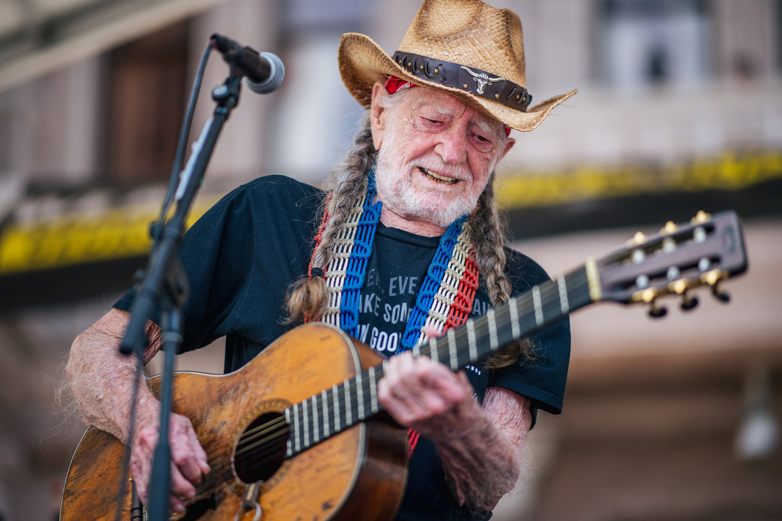 'Vote them out': Willie Nelson headlines protest rally on Texas Capitol steps.