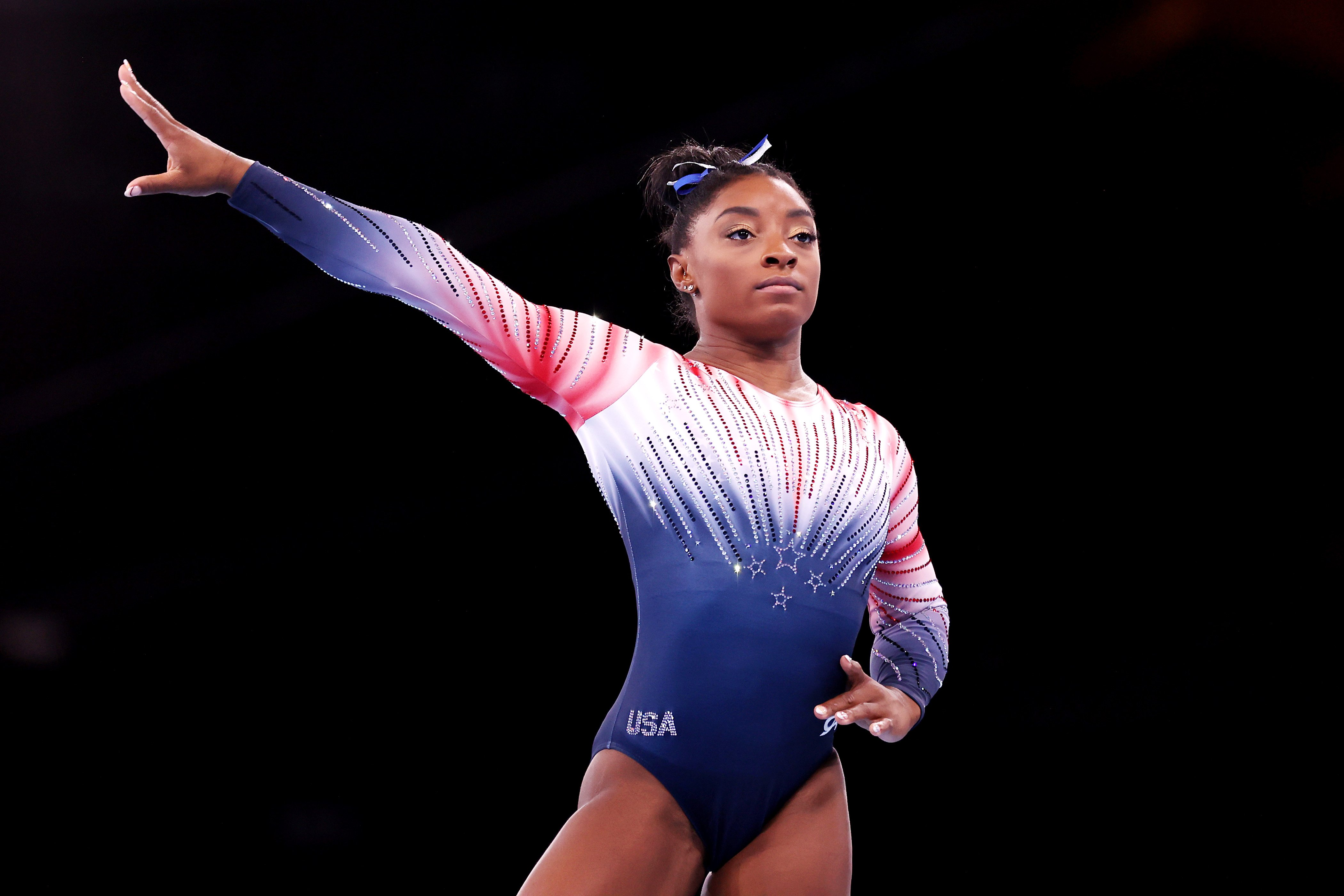 Simone Biles returns to Olympic competition for balance beam final