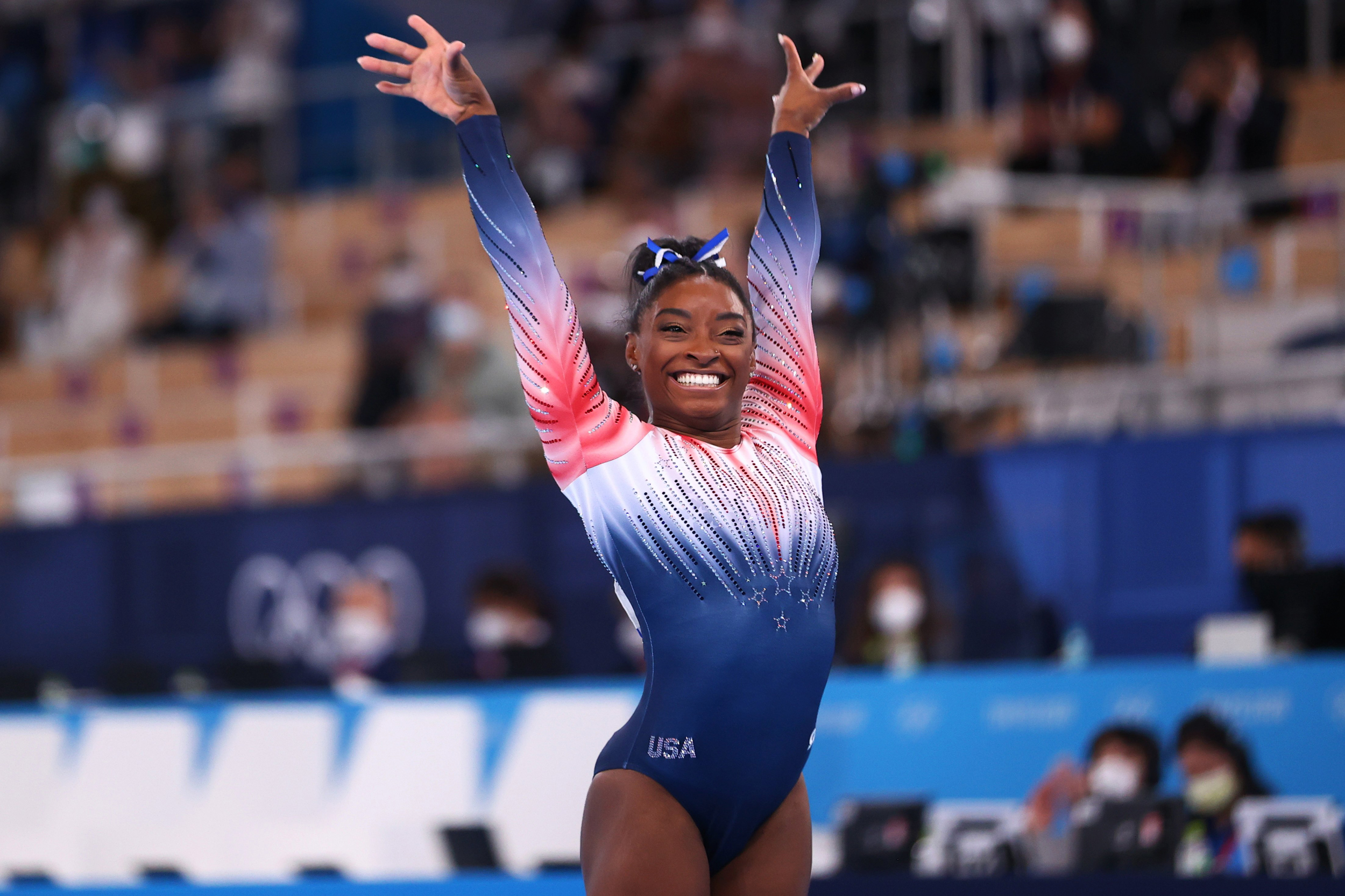 Simone Biles says she's 'keeping the door open' for Olympic return