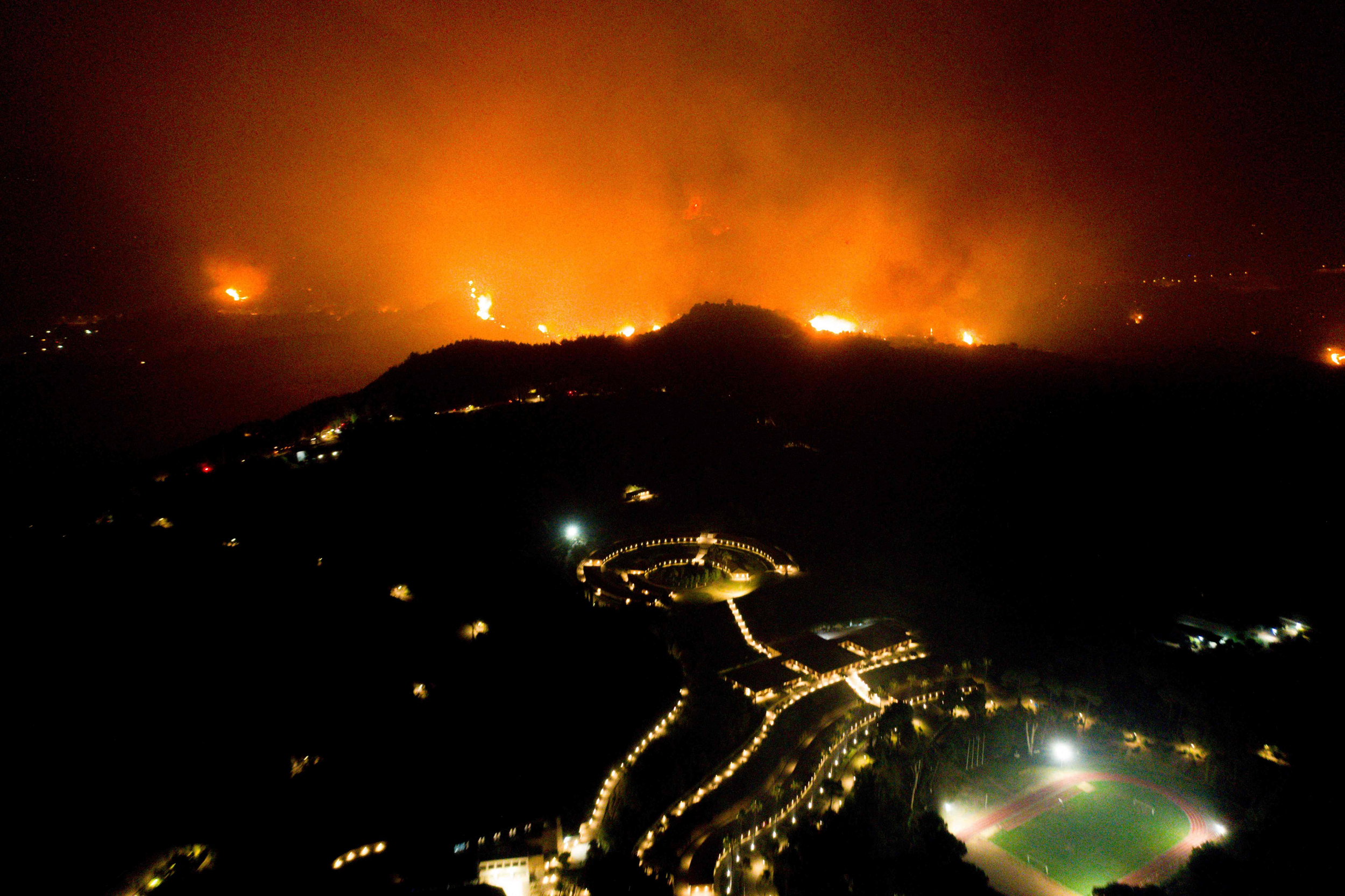 Site of ancient Olympics saved as Greece, Turkey battle raging wildfires