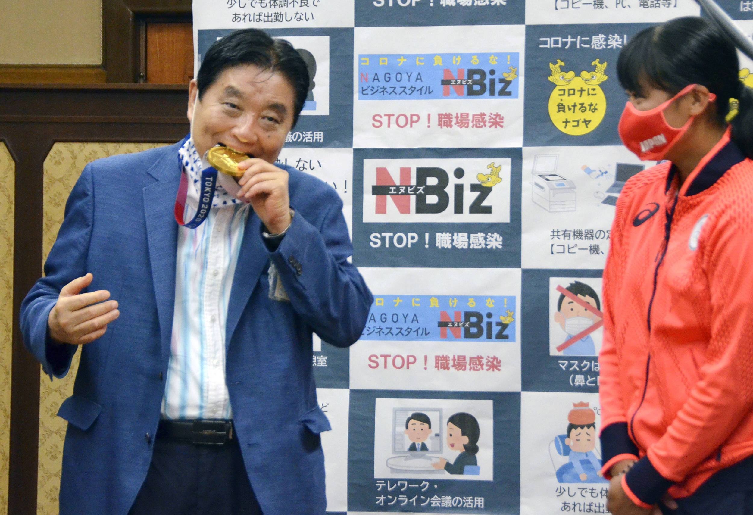 Medal-munching mayor sparks outrage in Japan as Covid fears eat away at Olympics' success