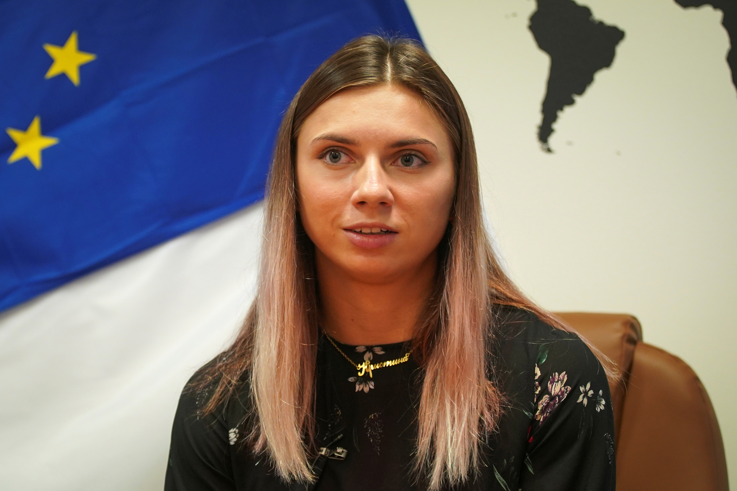 Sprinter says grandmother warned it was not safe to return to Belarus on way to airport