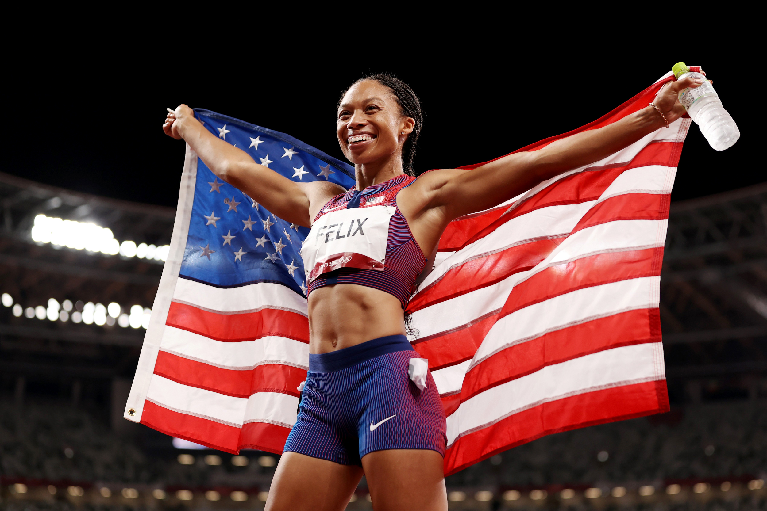Allyson Felix becomes most decorated American track athlete in Olympic history