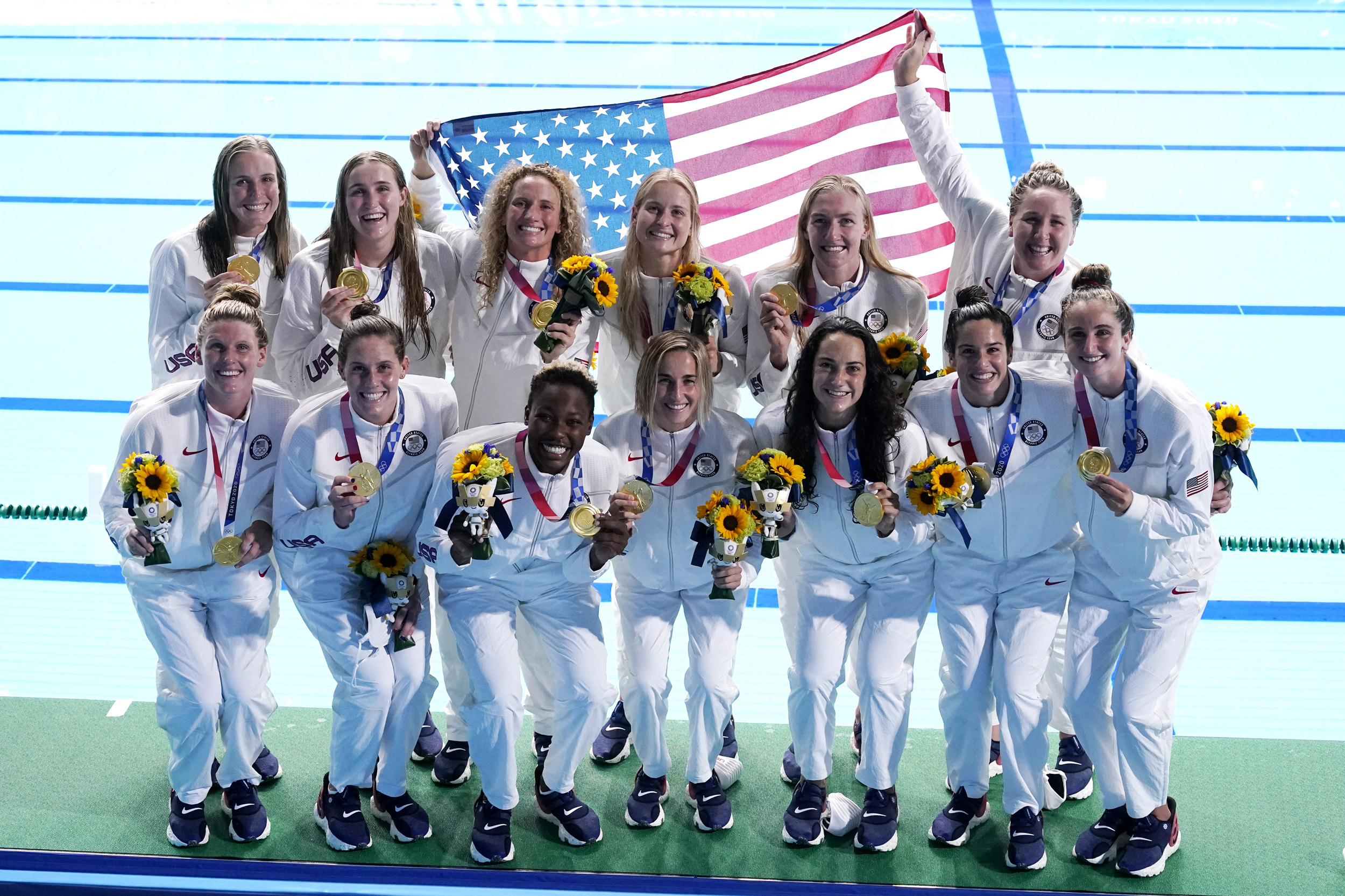 U.S. women's water polo wins third straight Olympic gold