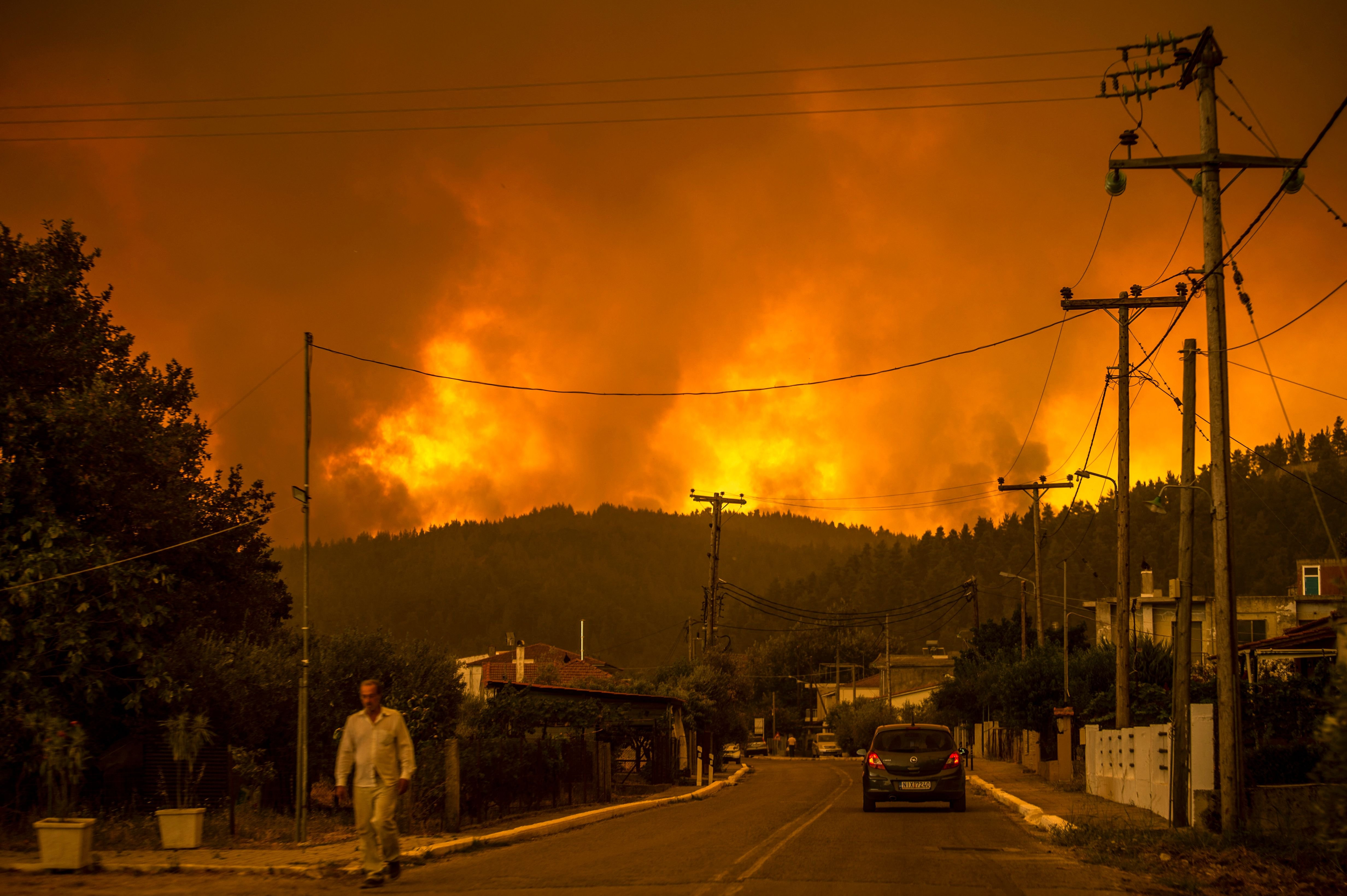 'This is a punishment': Raging wildfires leave Greece to blame climate change