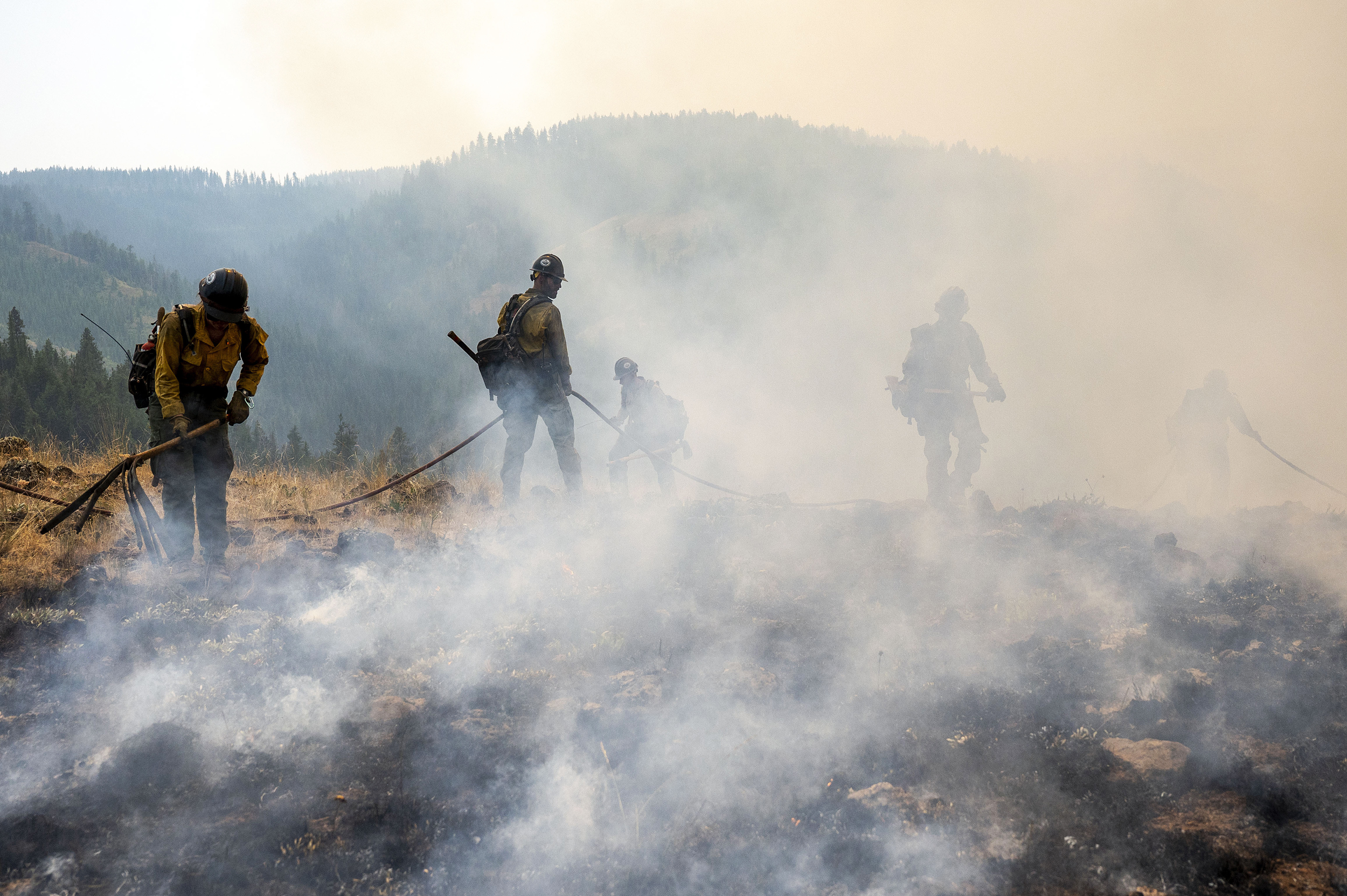 Wildland firefighters faced with shrinking water, food, communications supplies