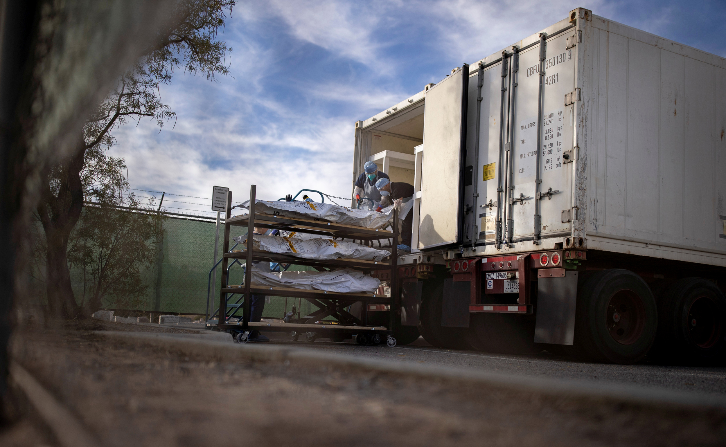 Texas requests five mortuary trailers in anticipation of Covid deaths