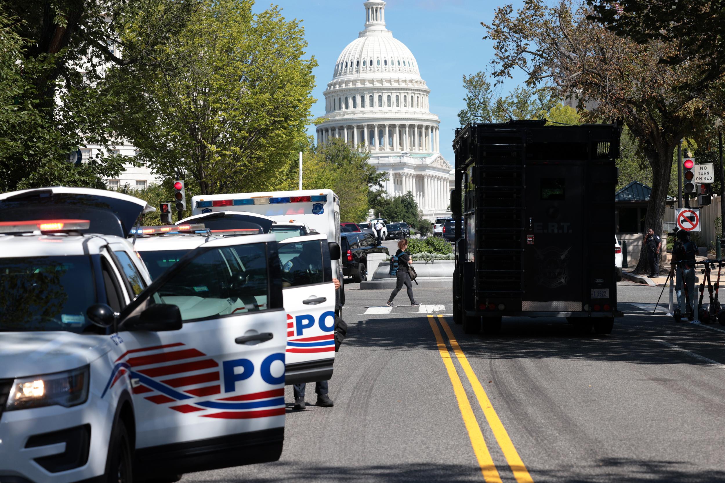 Suspect in Washington, D.C., bomb threat surrenders, is in police custody