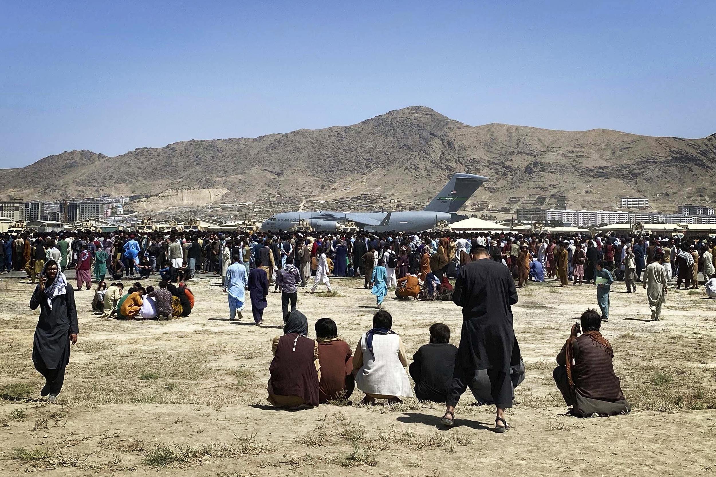 No rescue flights have taken off from Kabul airport in at least eight hours