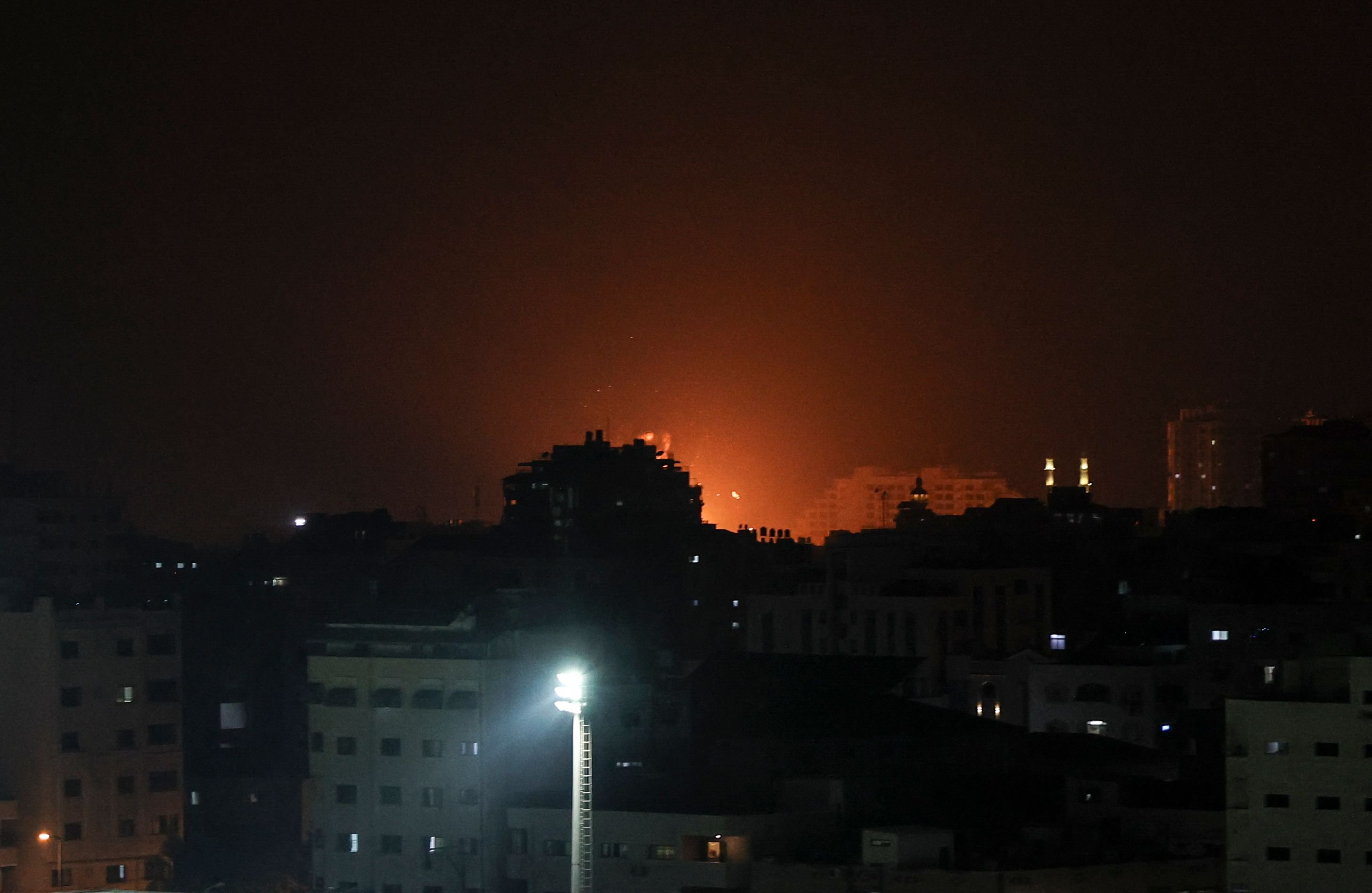 Israel bombs weapons sites in Gaza after border clashes