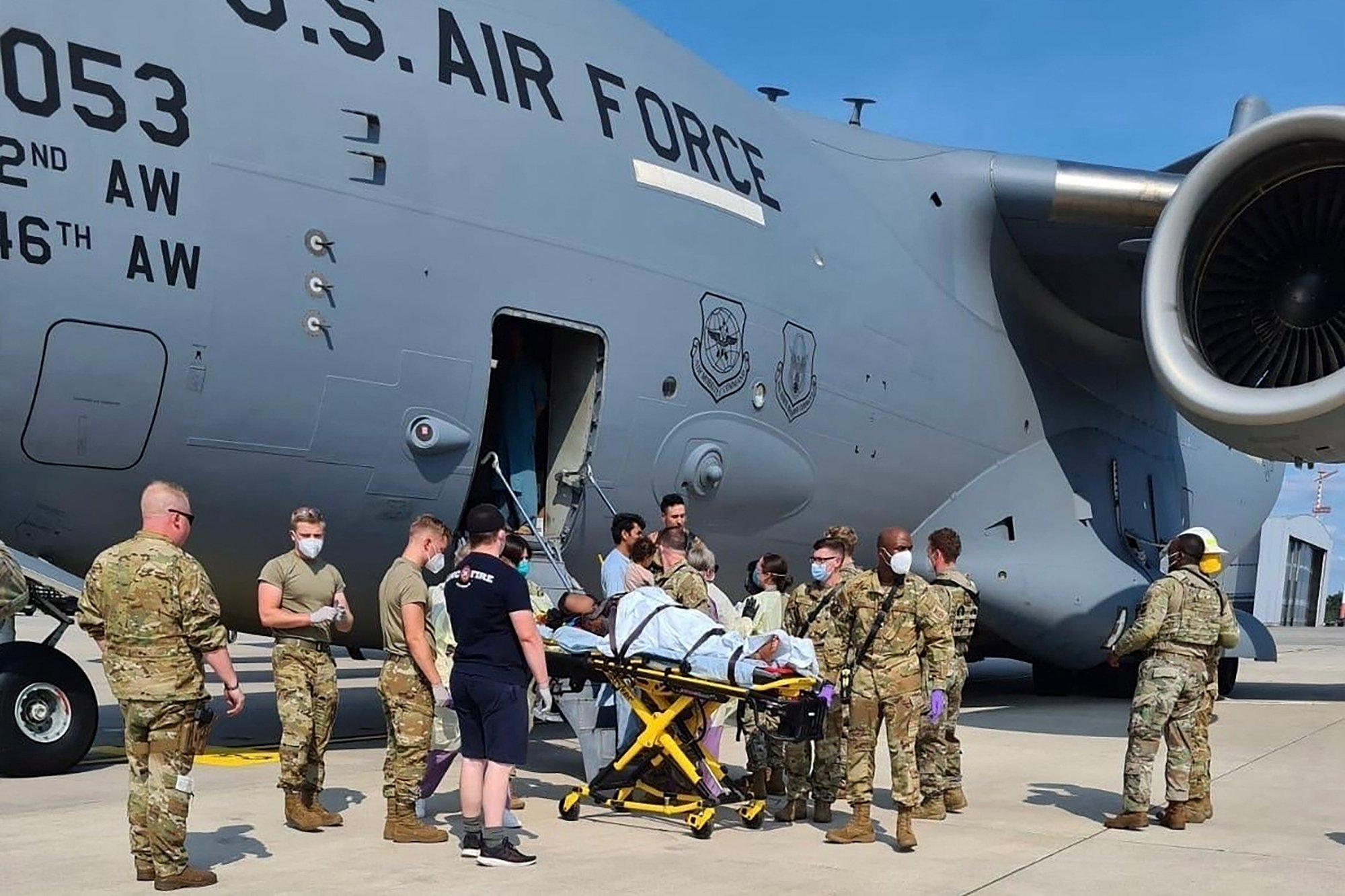 Afghan woman gives birth aboard U.S. evacuation plane