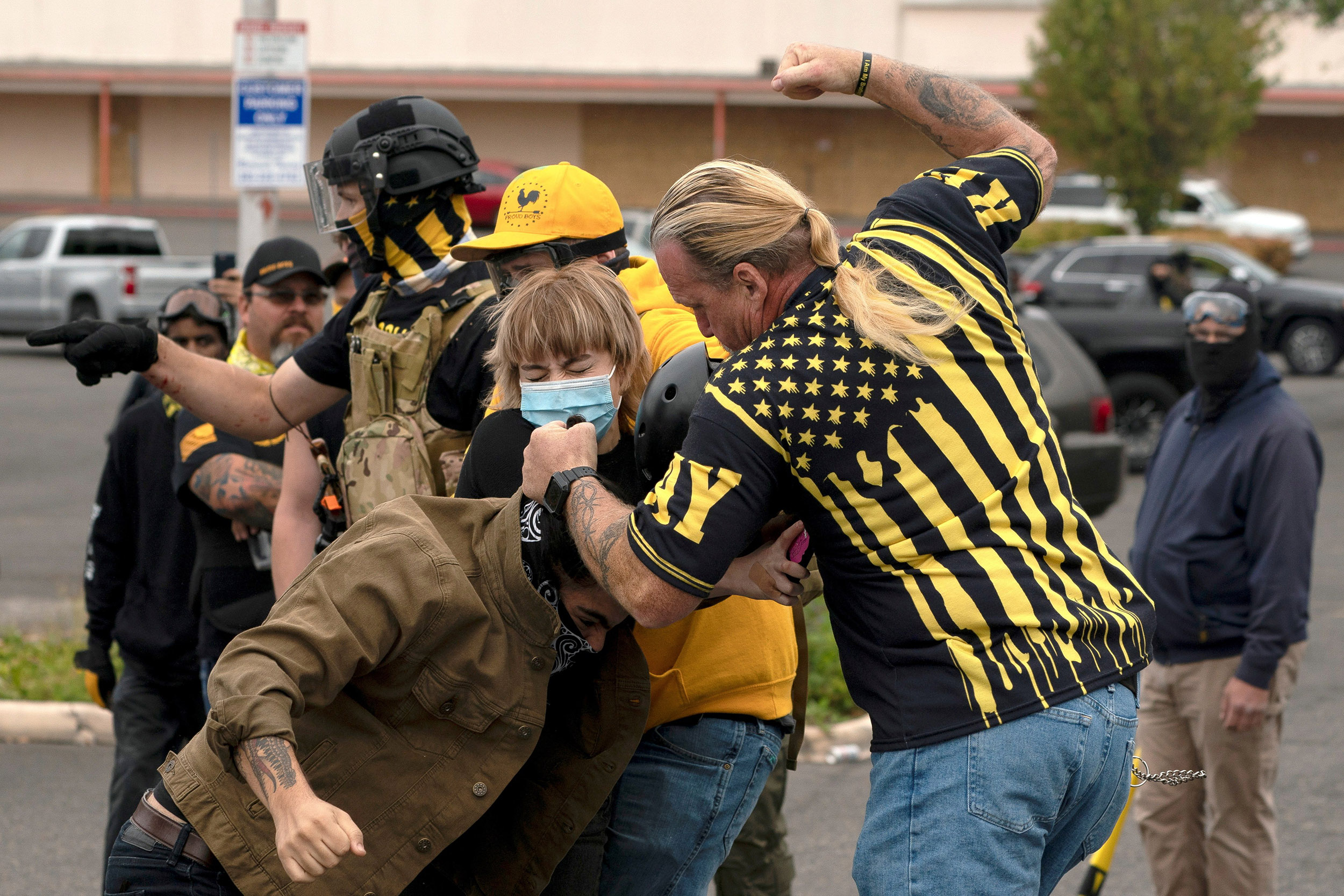 Gunfire, brawls as far-right and far-left protest groups clash in Portland