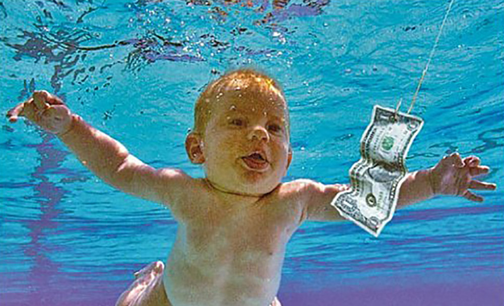 Man photographed as baby on 'Nevermind' cover sues Nirvana, alleging child pornography
