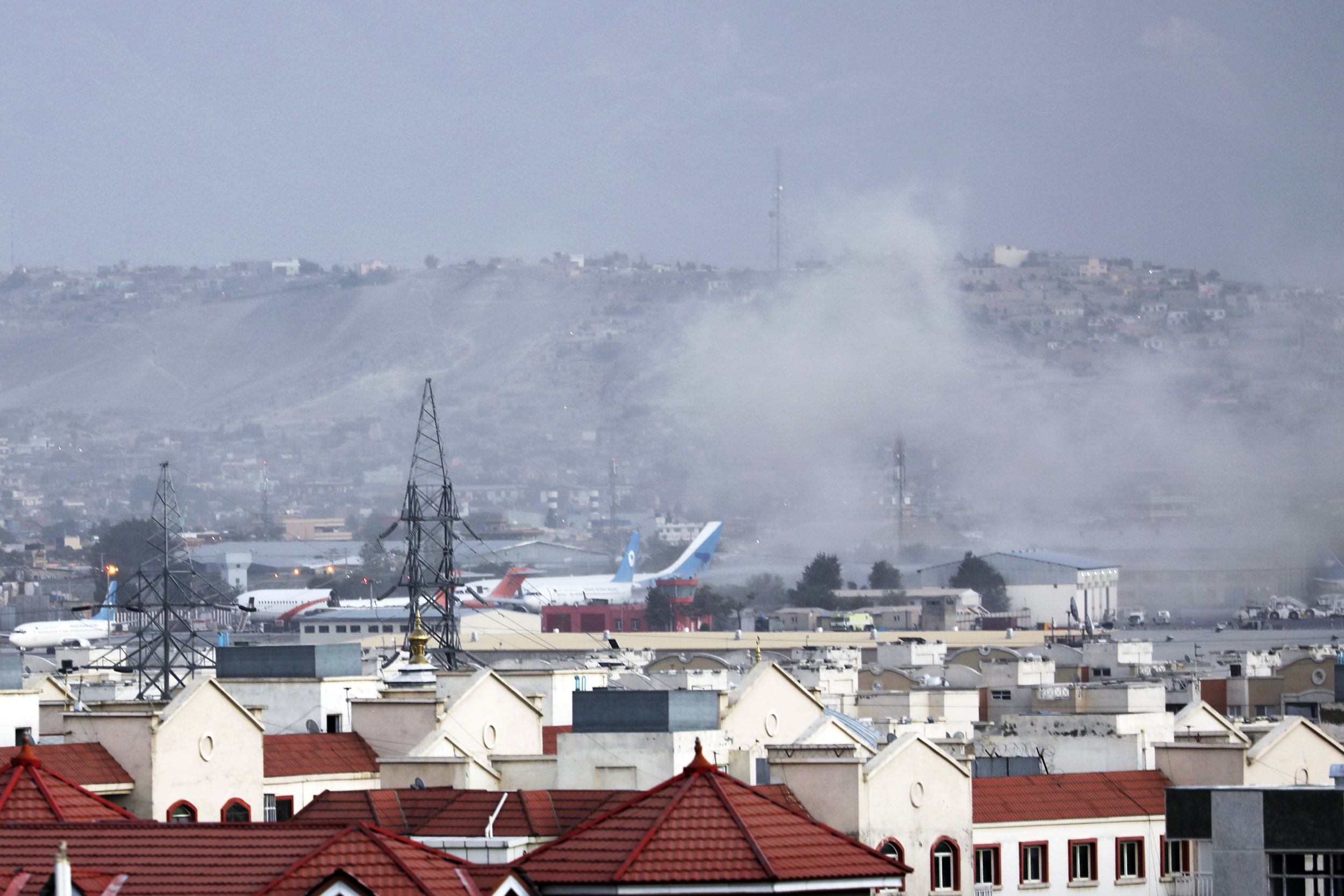 Explosion hits outside Kabul airport after terror attack warnings