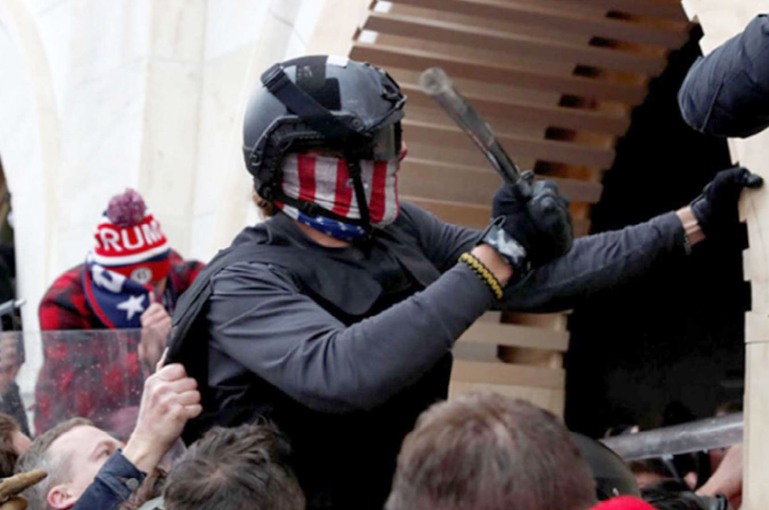 Two California men arrested, accused of spraying chemicals on officers at Capitol riot