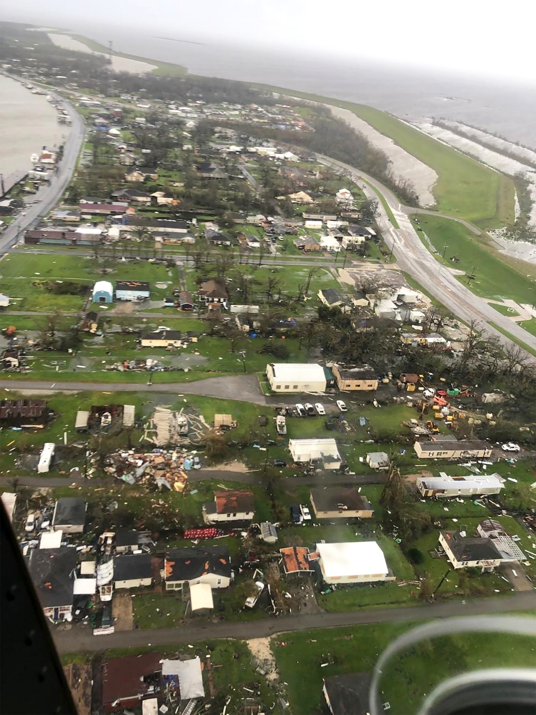 Aerial video, images illustrate scale of damage left by Hurricane Ida in Louisiana