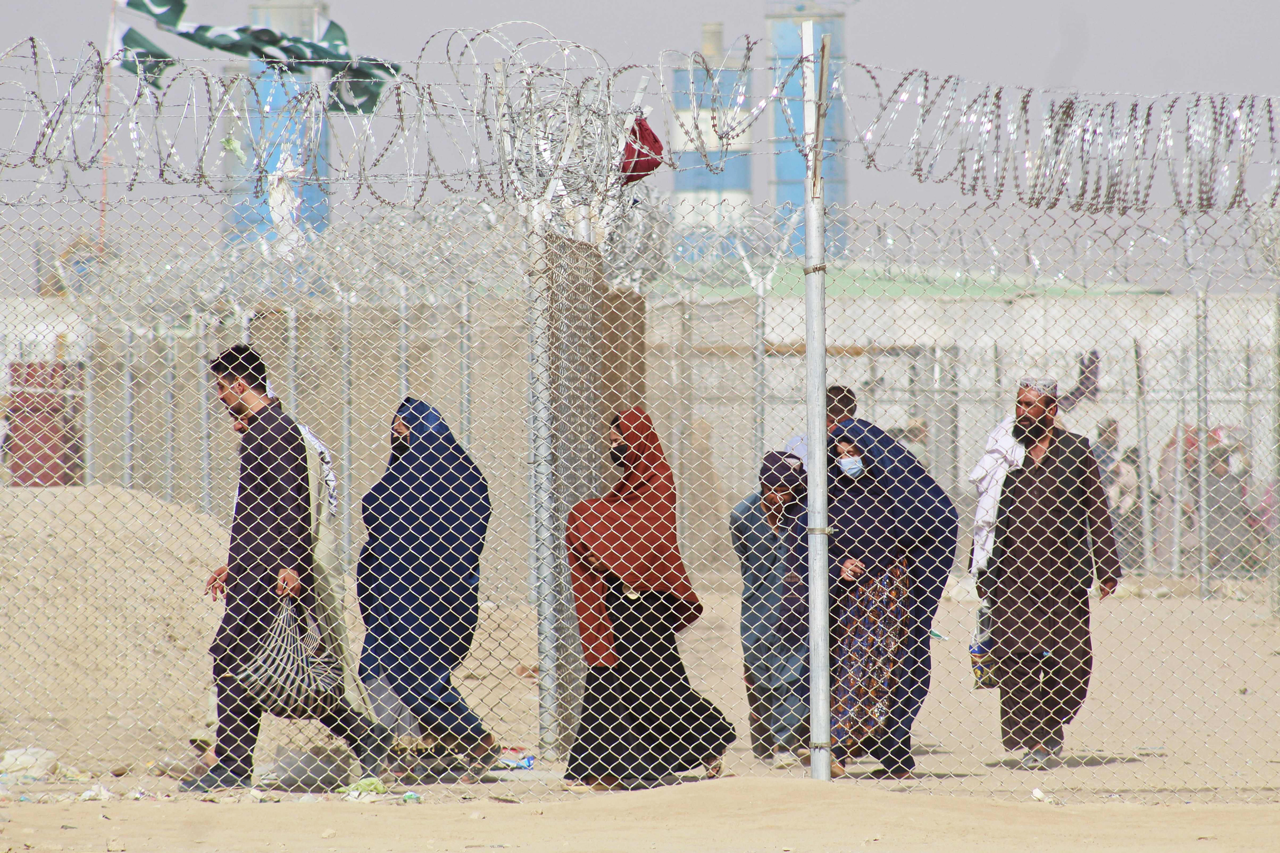 The U.S. military is gone; the airport is shut down. Can Afghans escape by land?