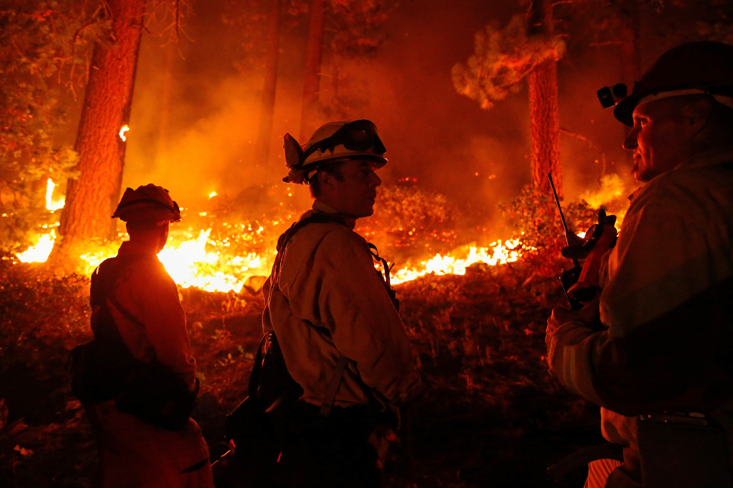 'All we can do': Firefighters attempt to merge California wildfires in effort to control one
