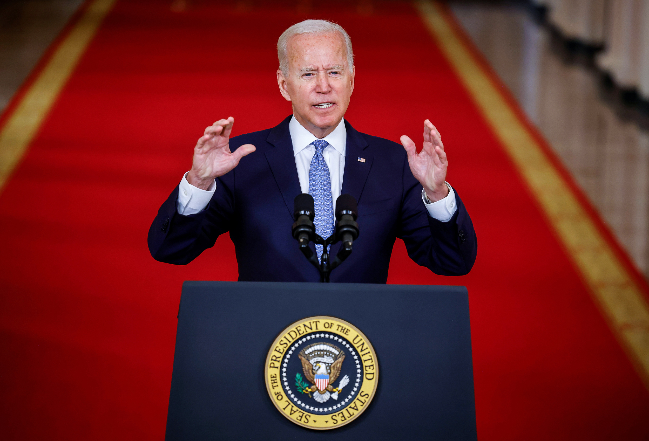 In fiery speech, Biden defends Afghanistan withdrawal: 'Not extending a forever exit'