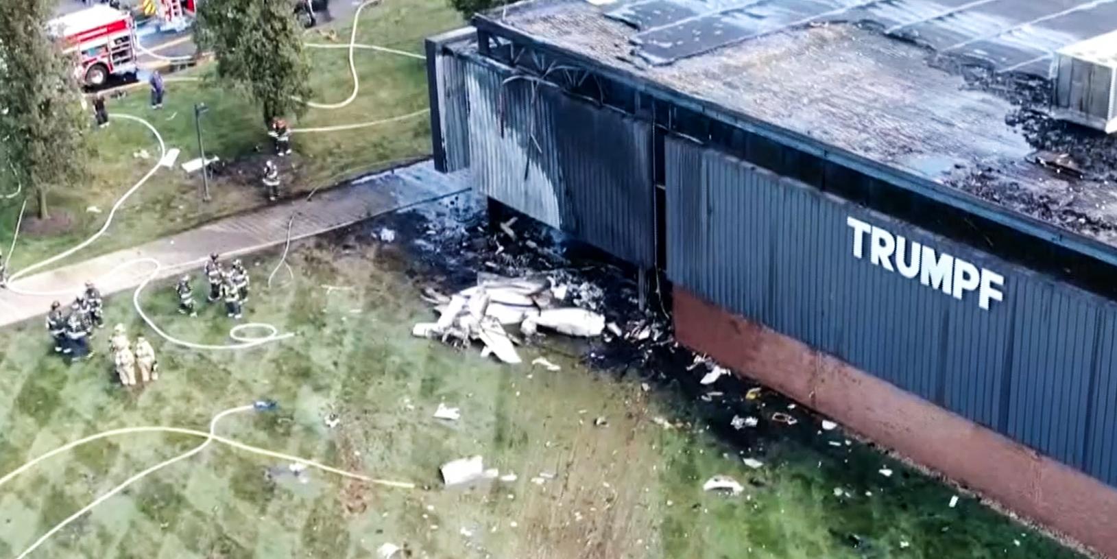 4 dead after jet crashes into Connecticut building